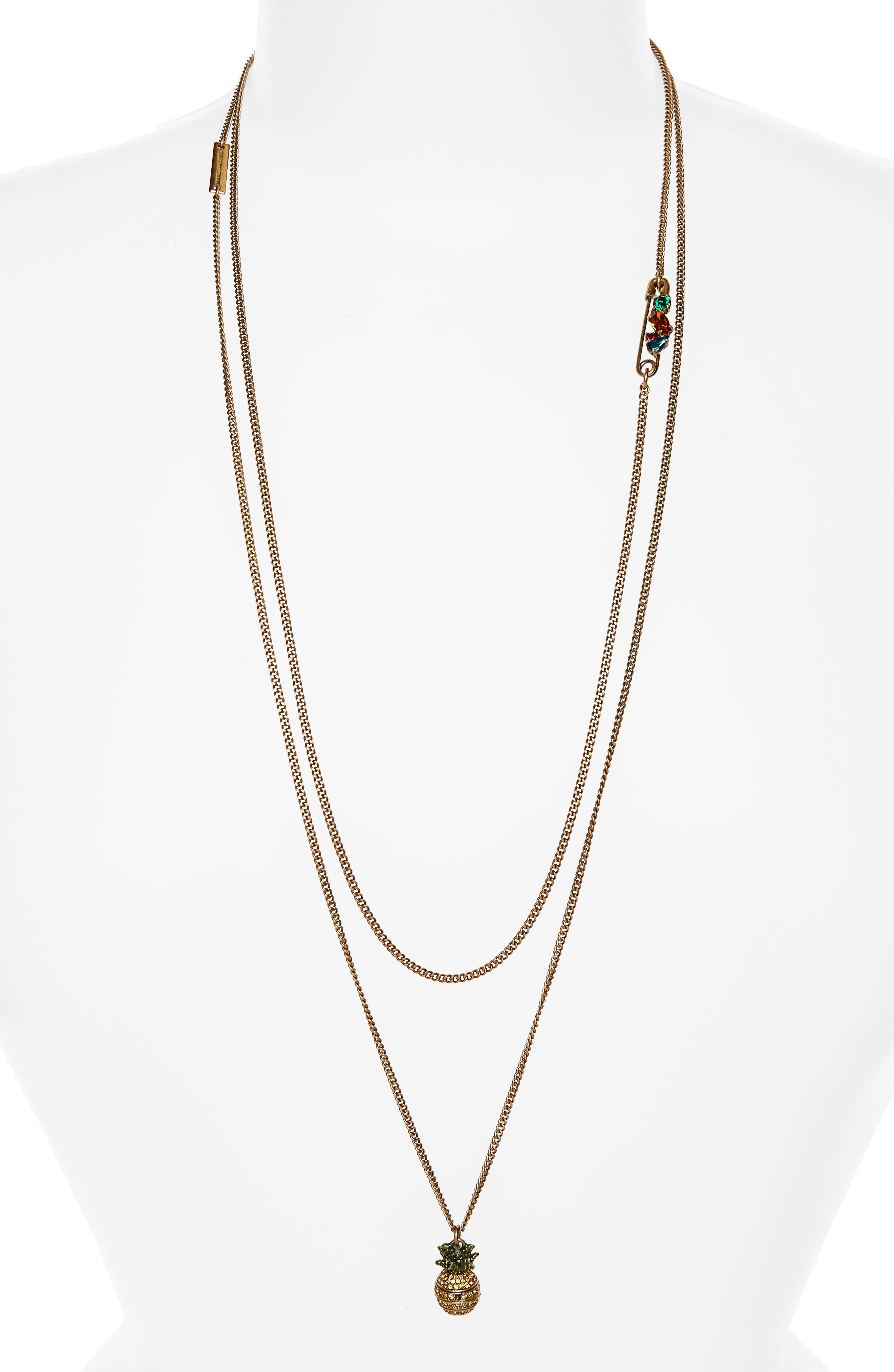 Alternate Image 1 Selected - MARC JACOBS Pineapple Layer Necklace