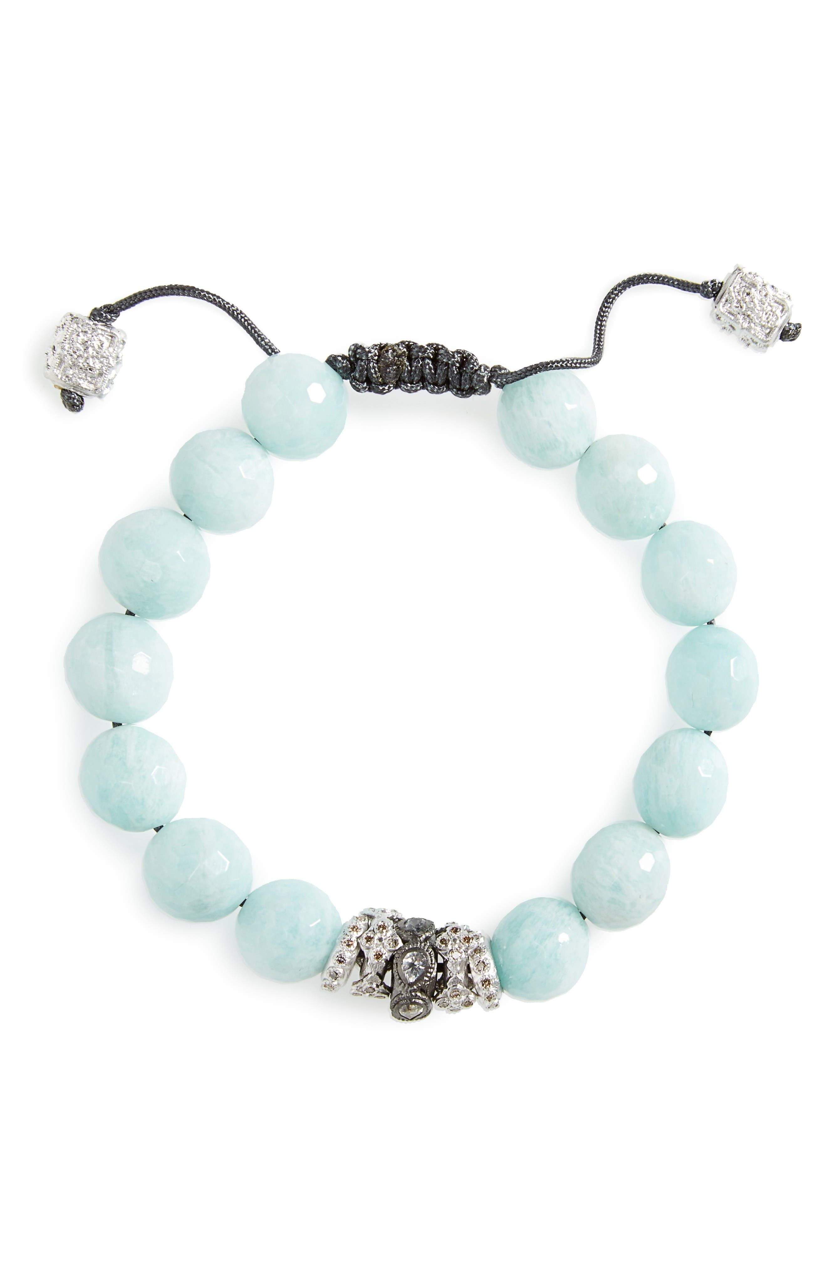 Armenta New World Diamond & Amazonite Bracelet