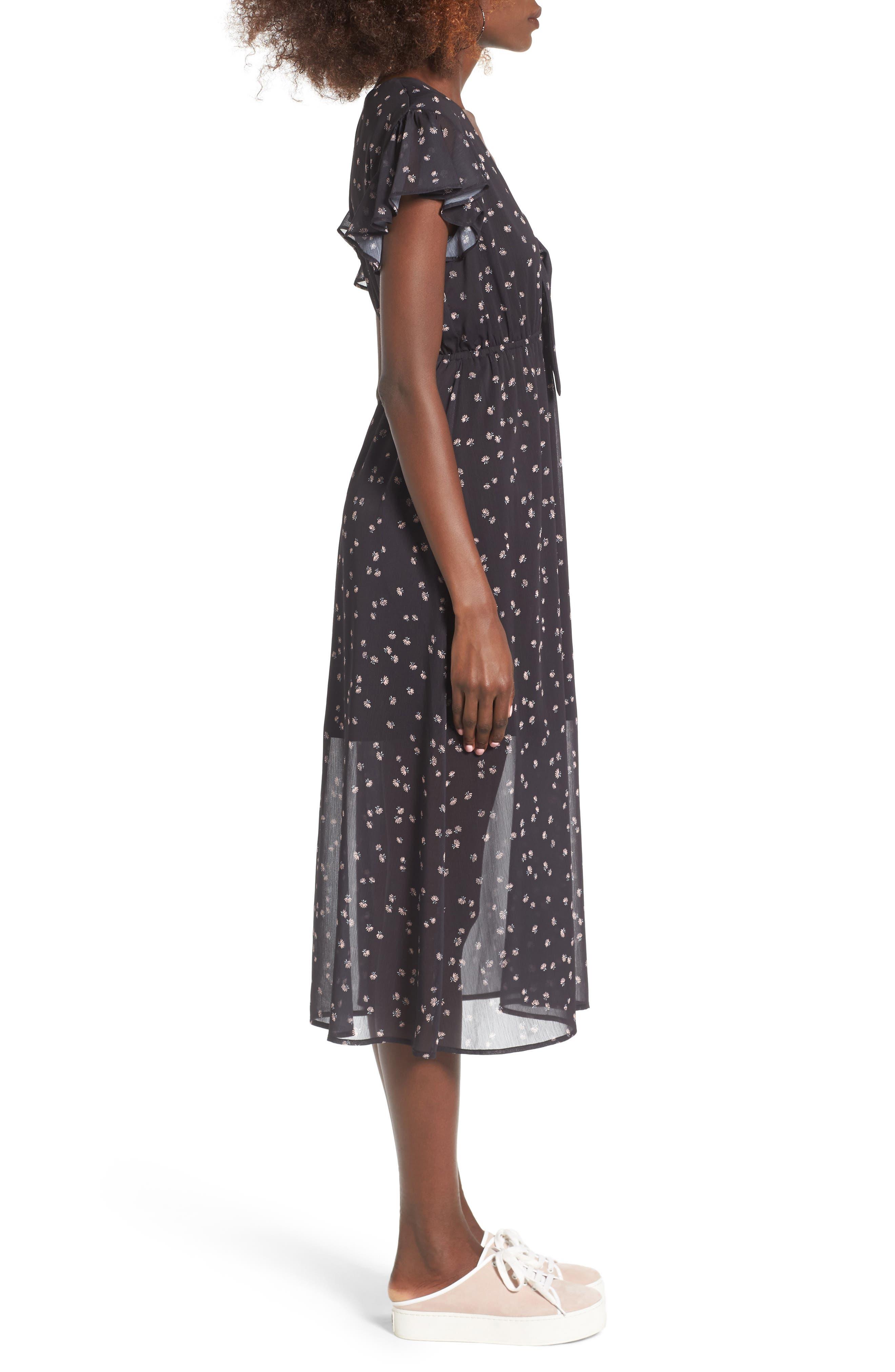 Alternate Image 3  - Love, Fire Tie Front Midi Dress