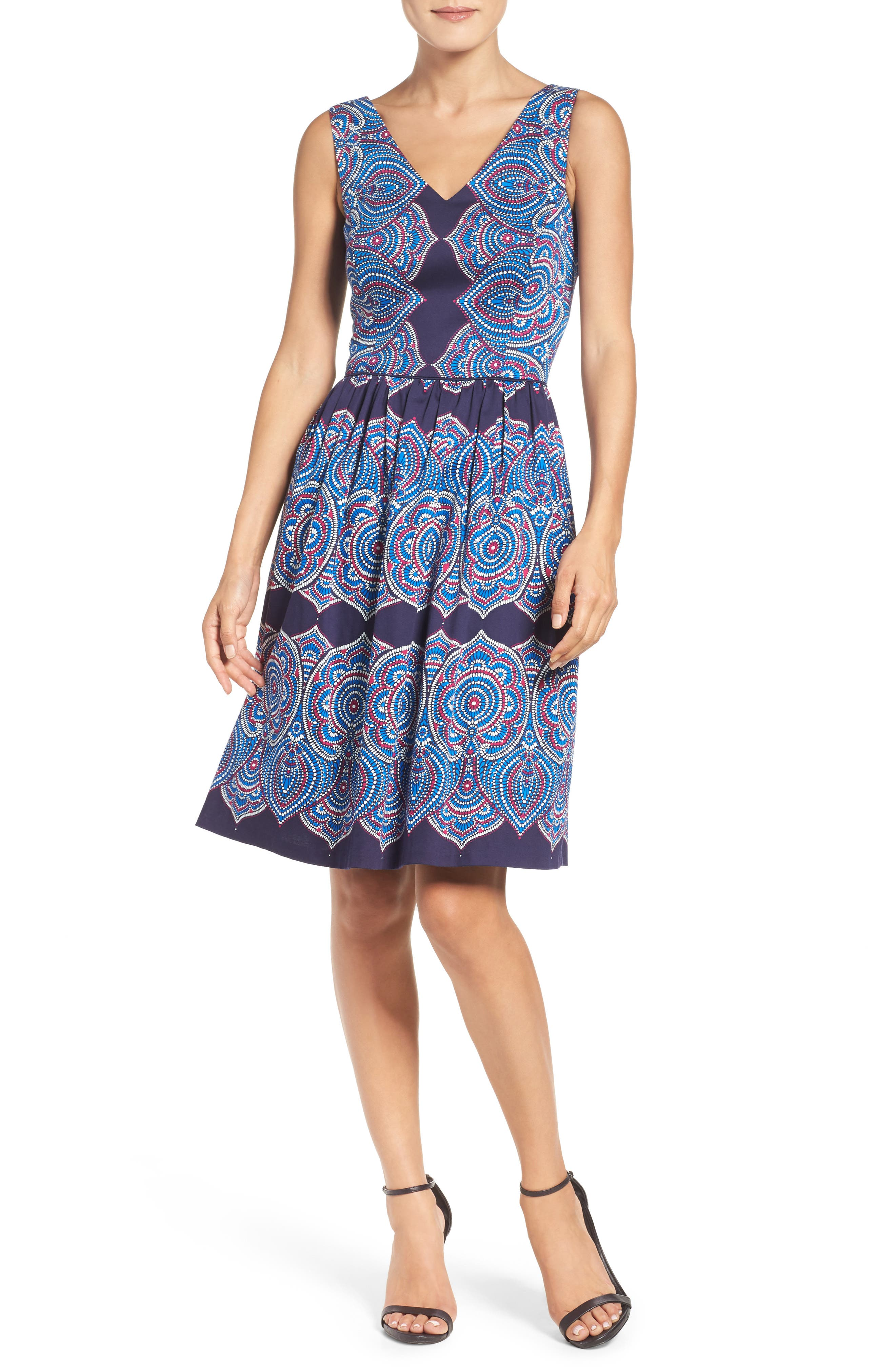 Alternate Image 4  - Maggy London Print Fit & Flare Dress
