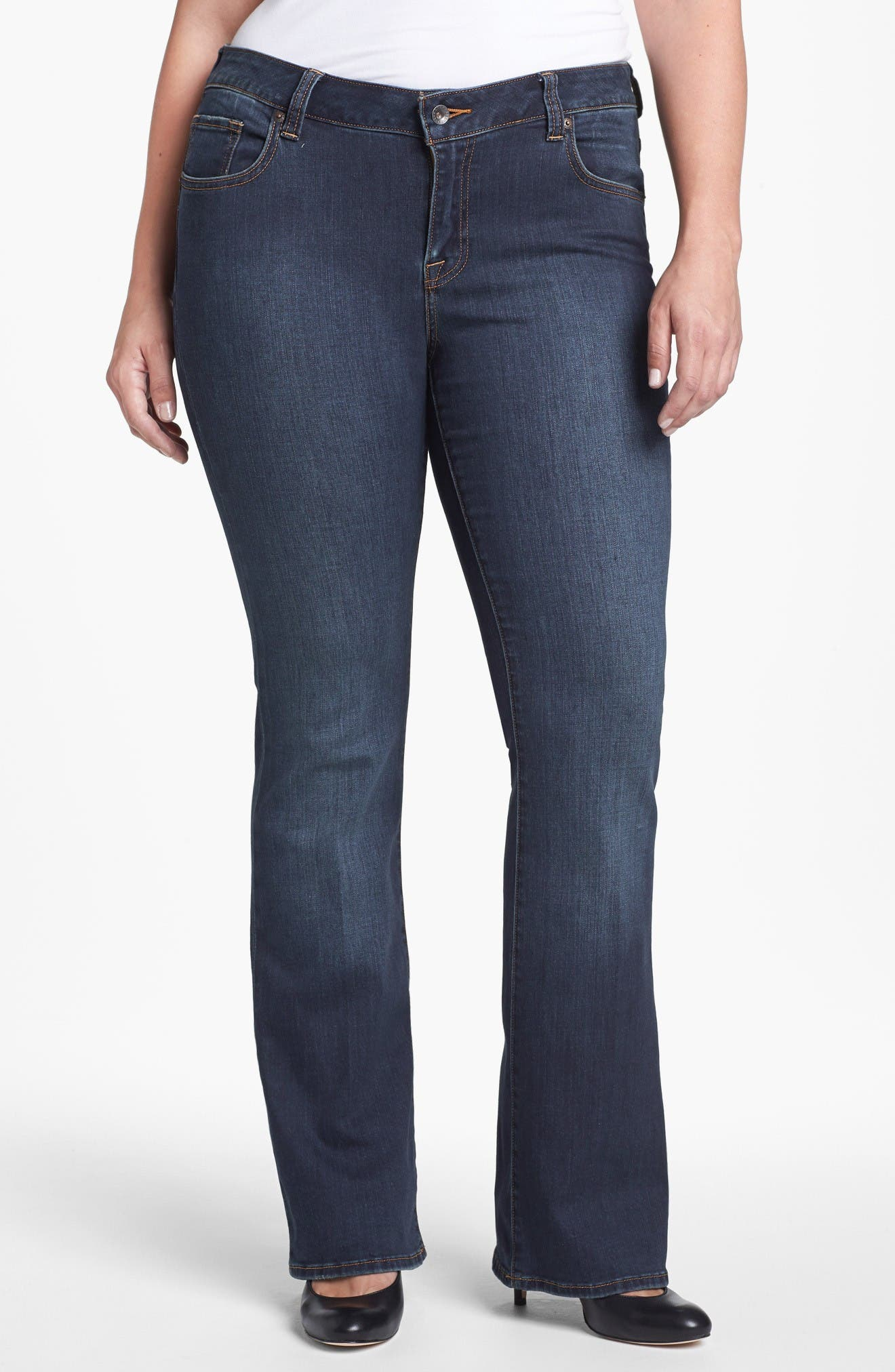 Main Image - Lucky Brand 'Ginger' Bootcut Jeans (Plus Size)