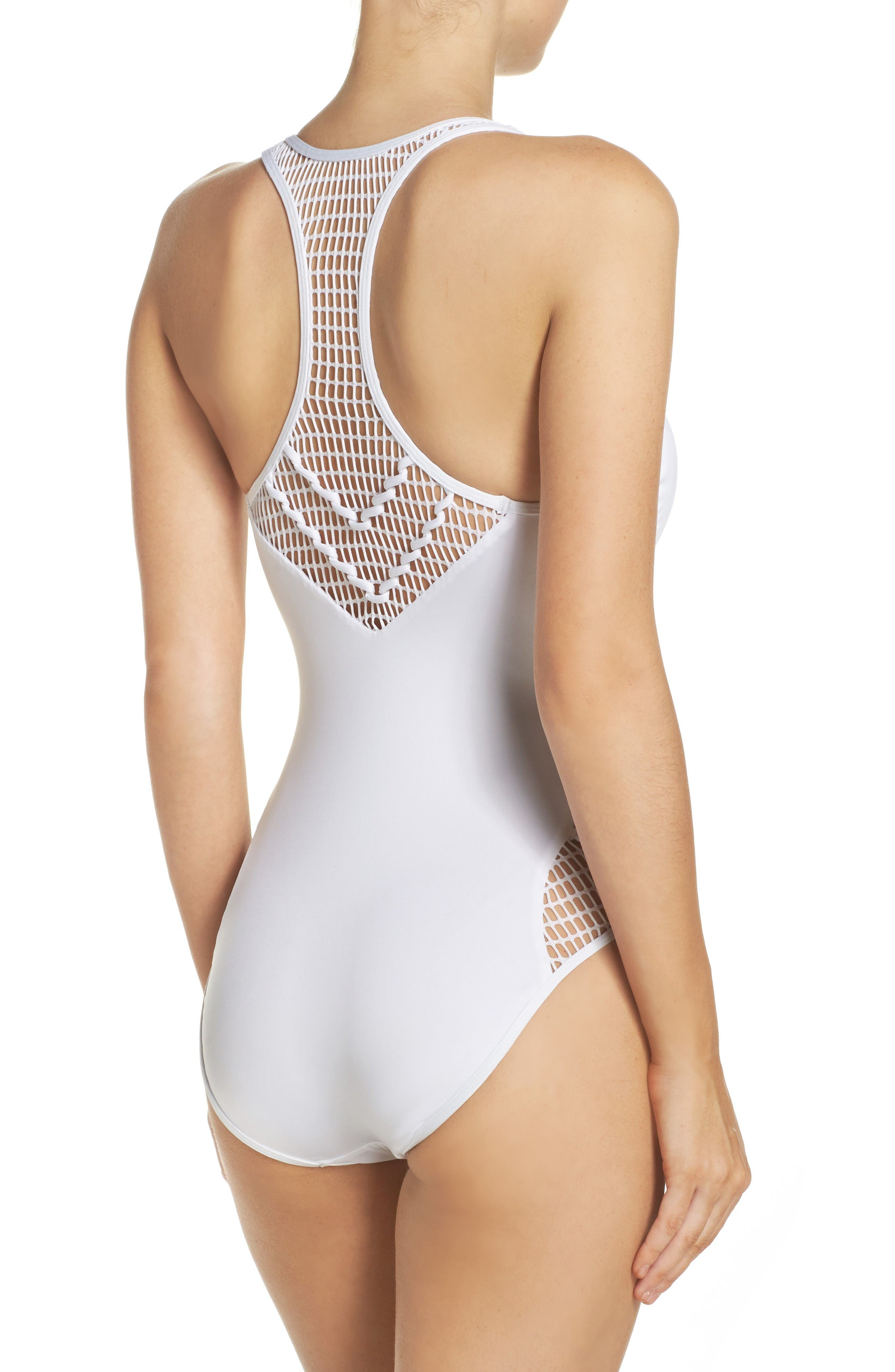 Alternate Image 2  - Kenneth Cole New York Wrapped in Love One-Piece Swimsuit