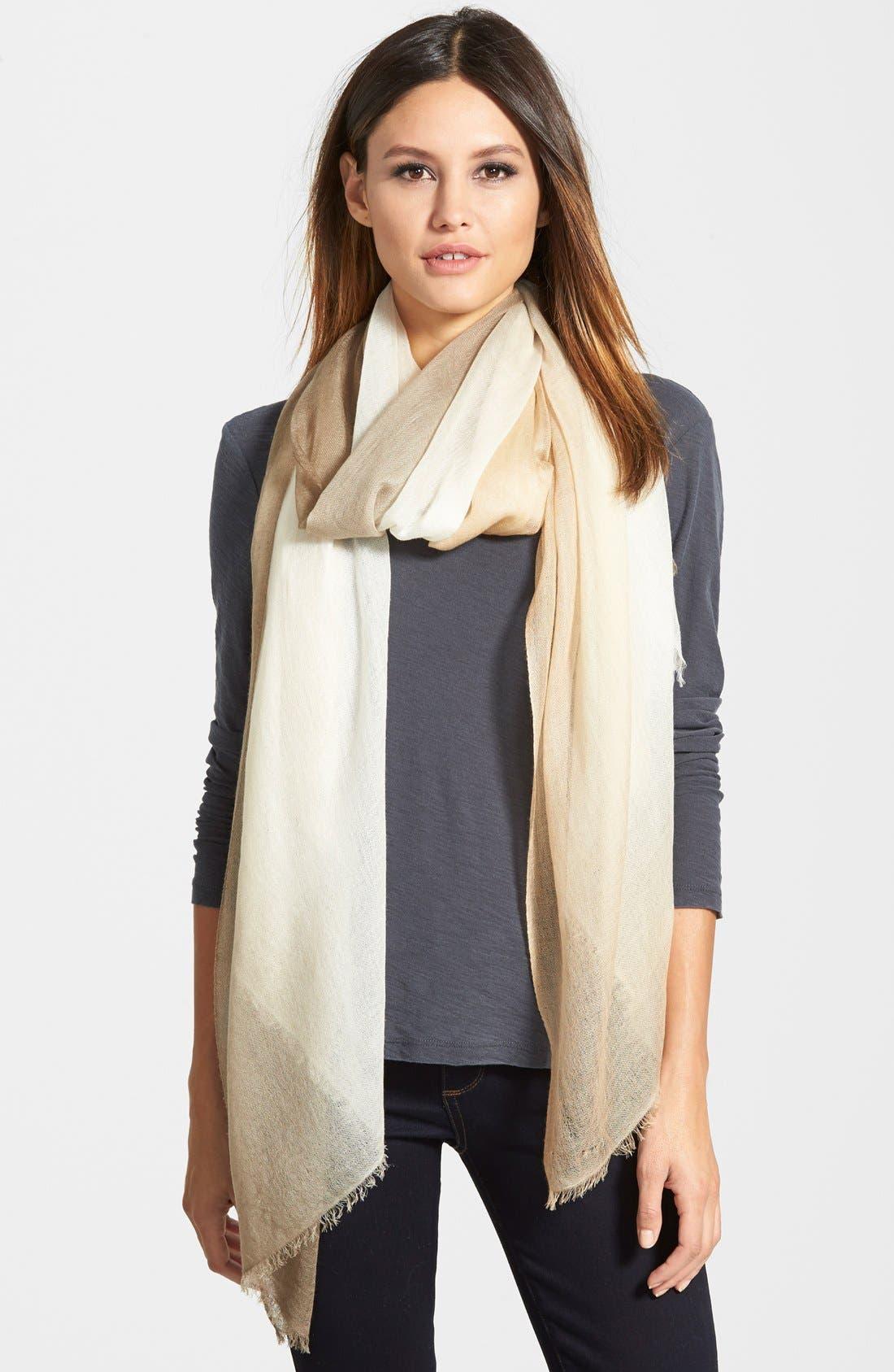 Main Image - Halogen® Ombré Cashmere Twill Wrap