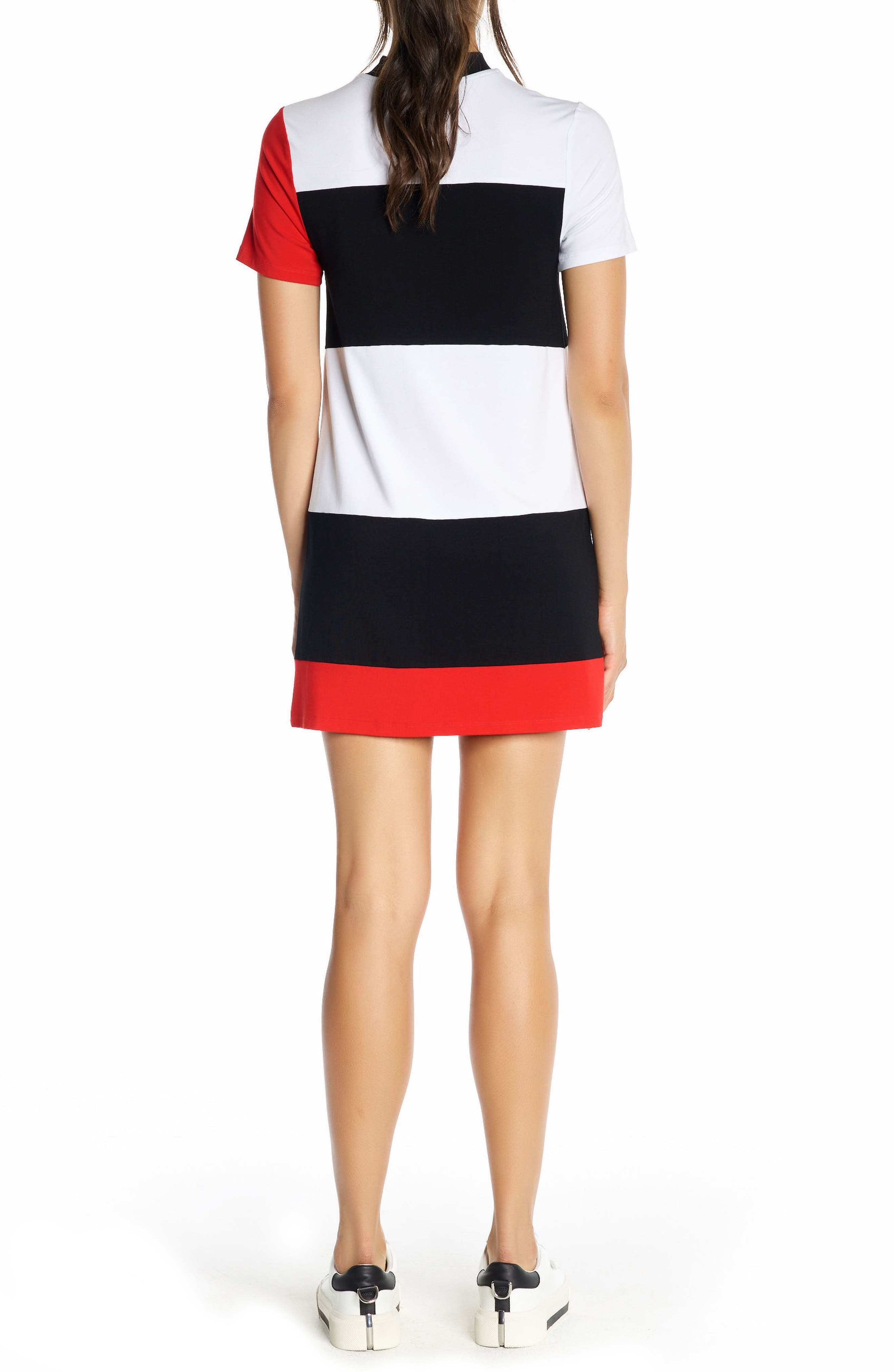 Alternate Image 2  - KENDALL + KYLIE Geo Stripe T-Shirt Dress