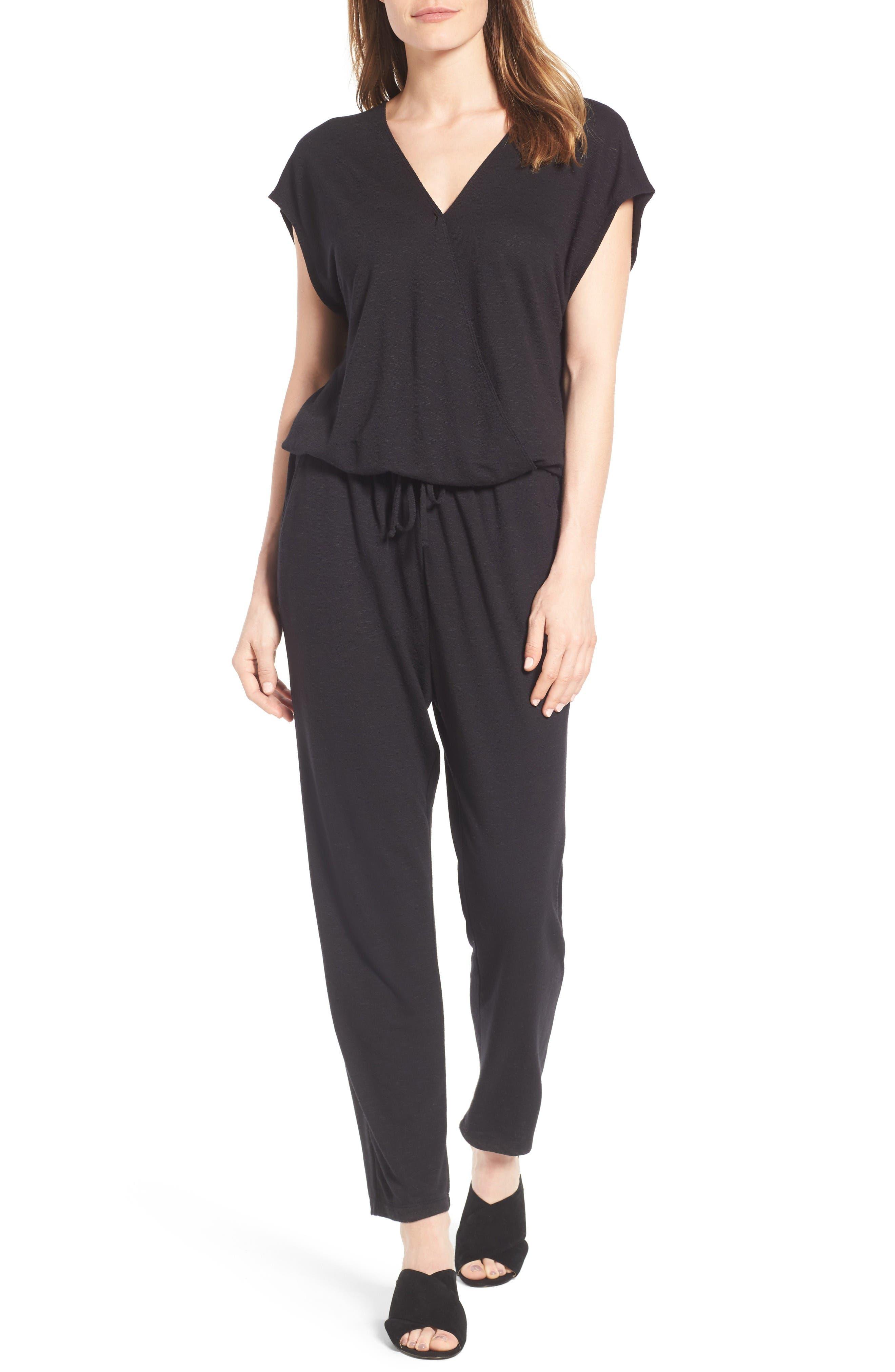 Caslon® Knit Jumpsuit (Regular & Petite)