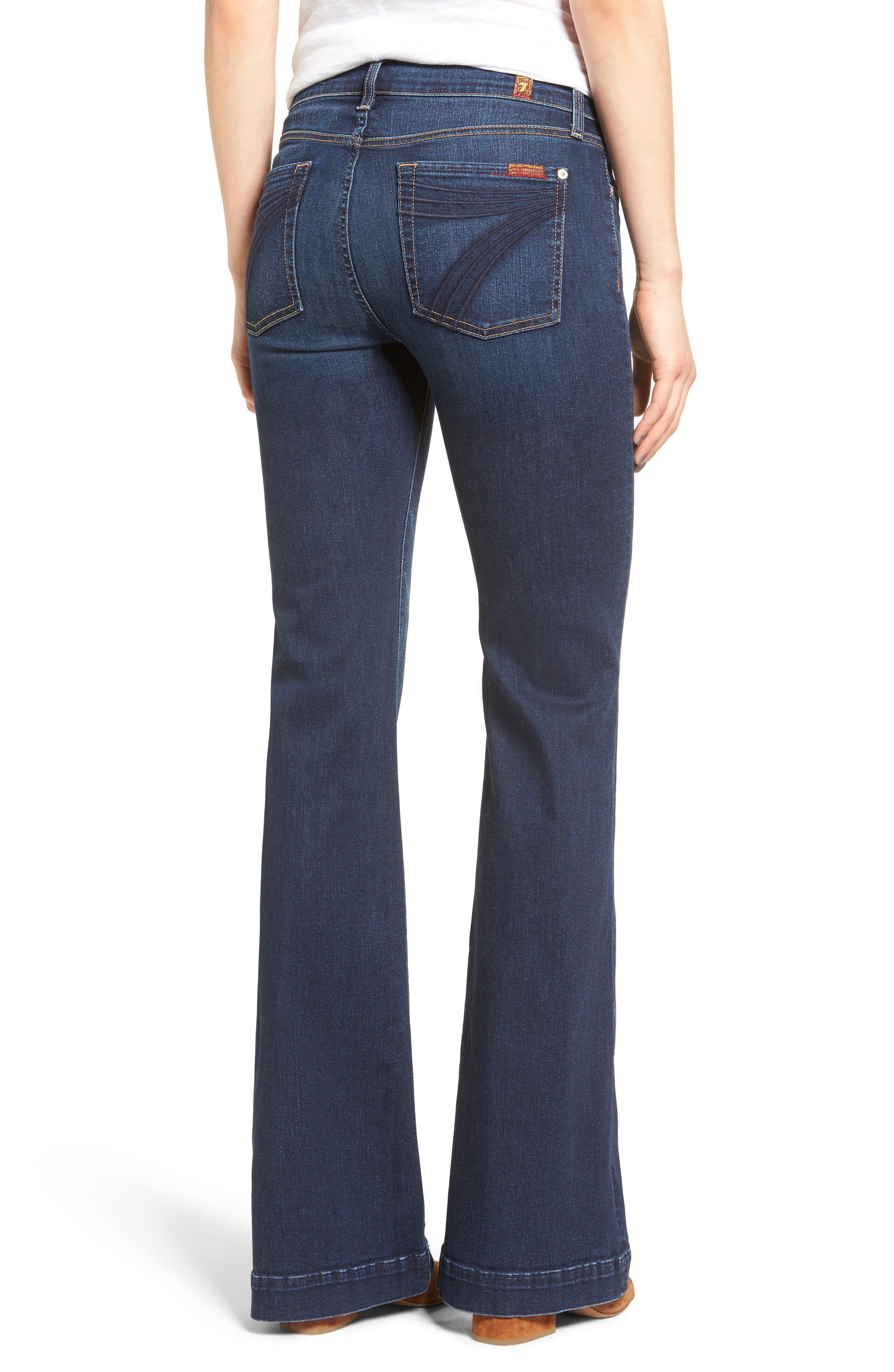 Alternate Image 2  - 7 For All Mankind® Dojo High Waist Wide Leg Jeans (Santiago Canyon)