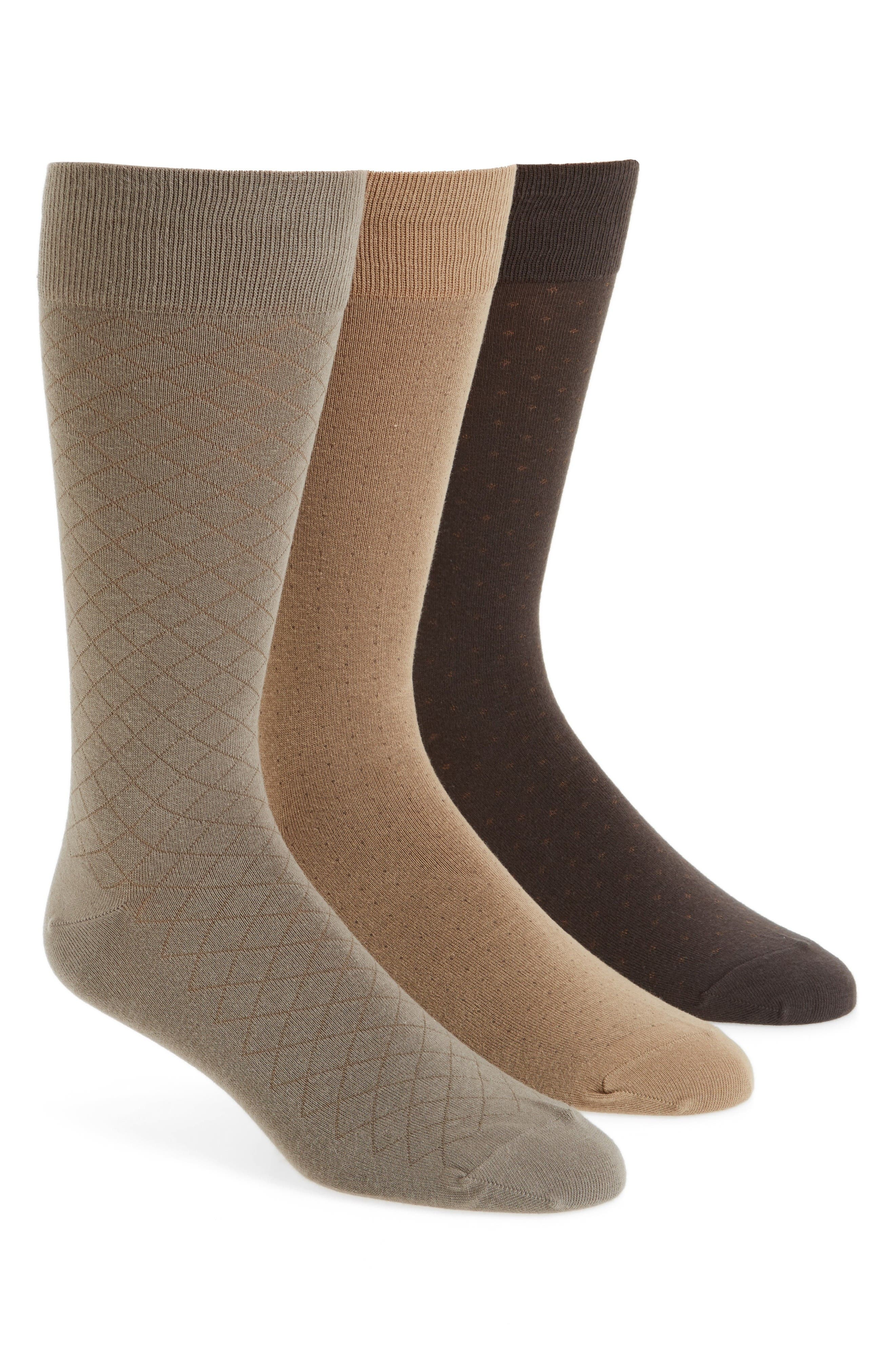 Alternate Image 1 Selected - Polo Ralph Lauren Dress Socks (3-Pack)
