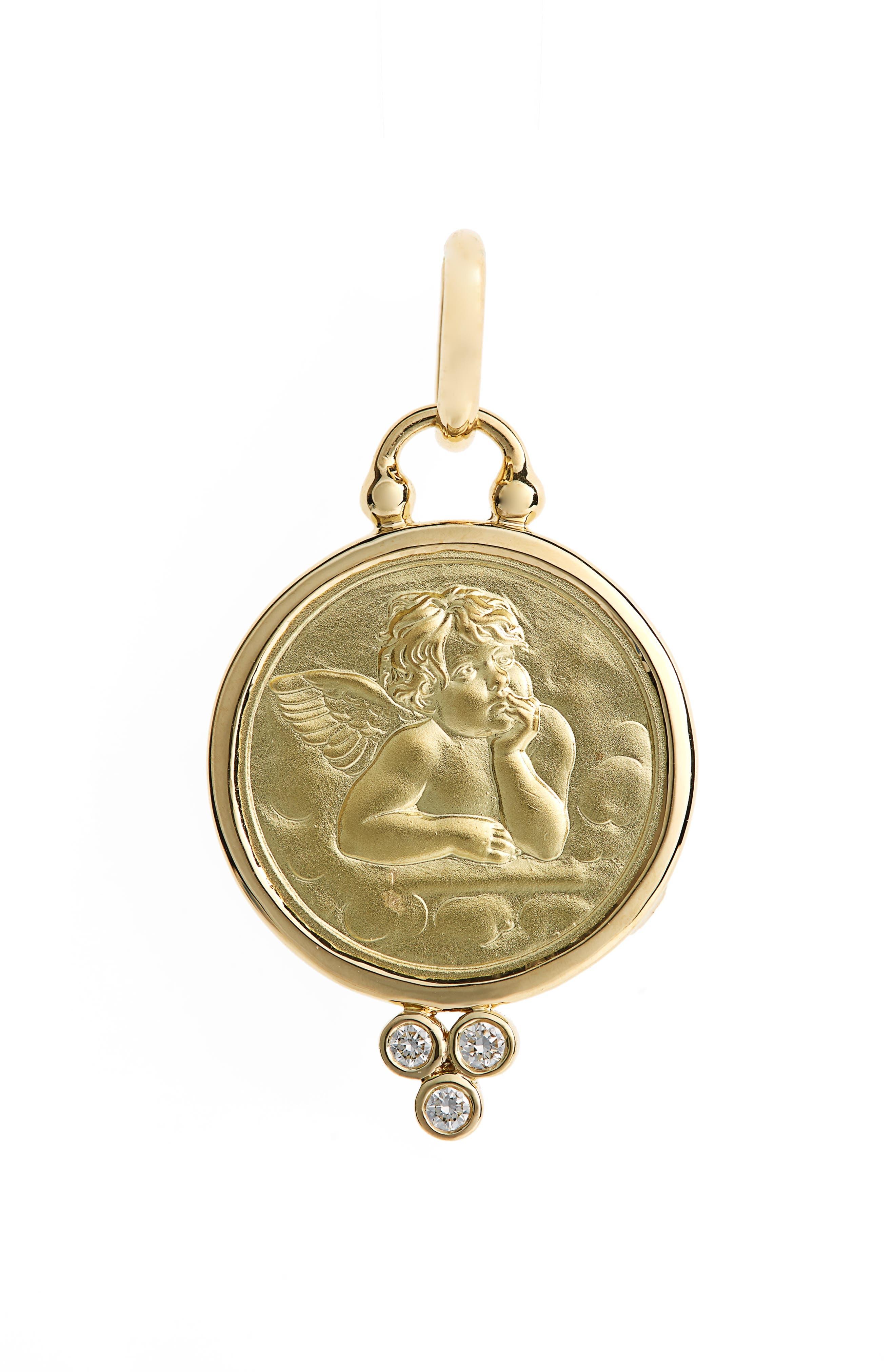 Temple St. Clair Diamond Angel Pendant