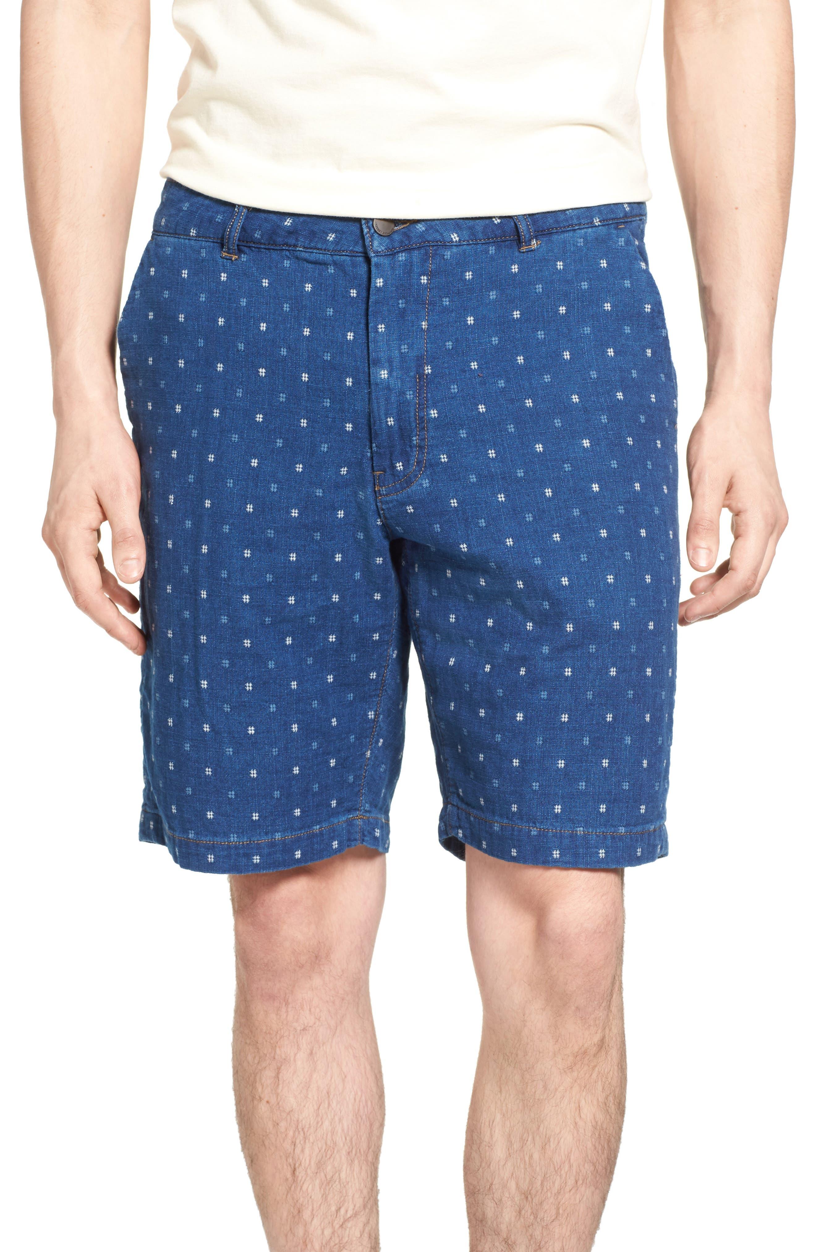Jeremiah Chance Indigo Jacquard Shorts
