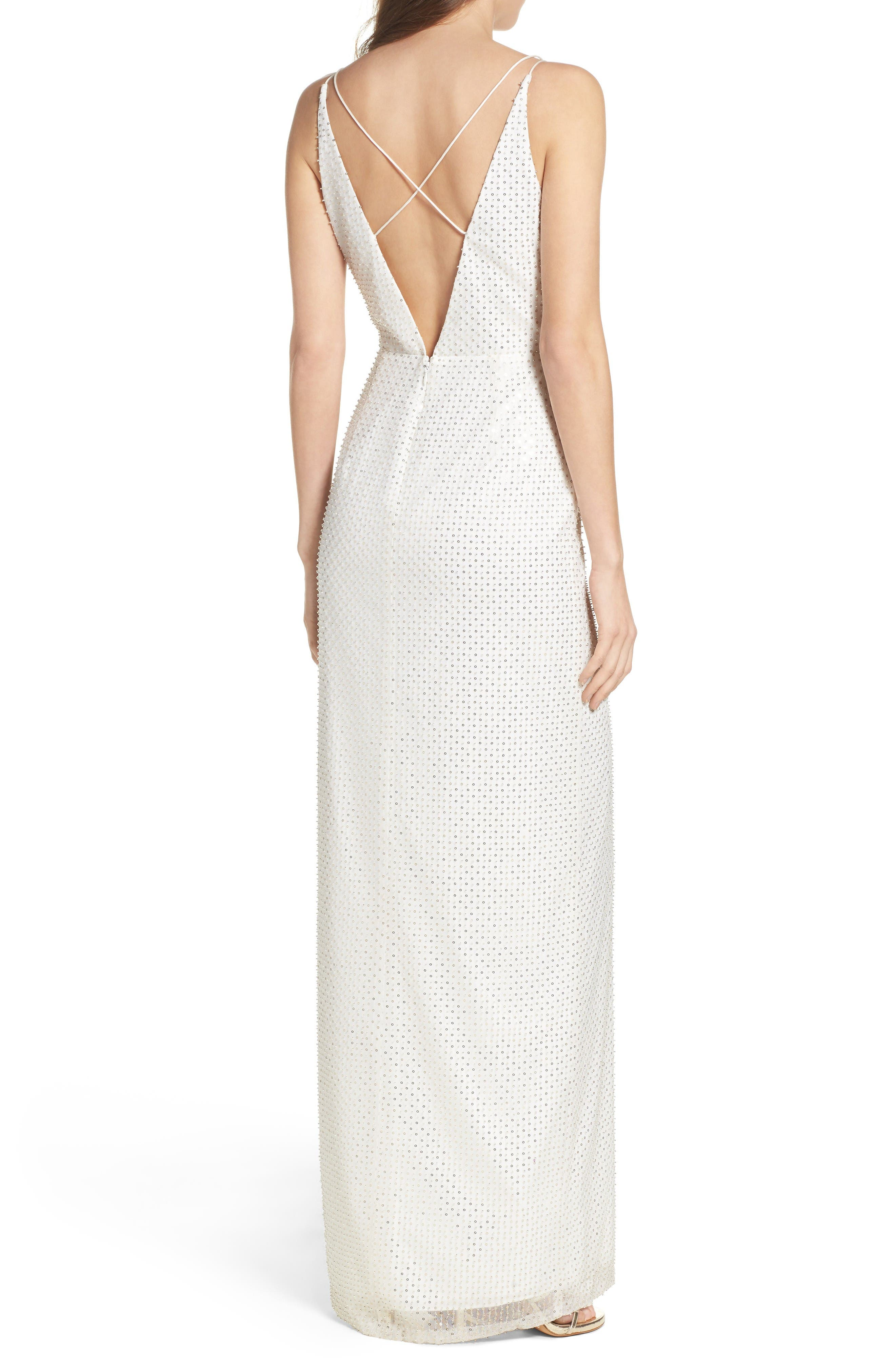Alternate Image 2  - Aidan by Aidan Mattox Embellished Column Dress