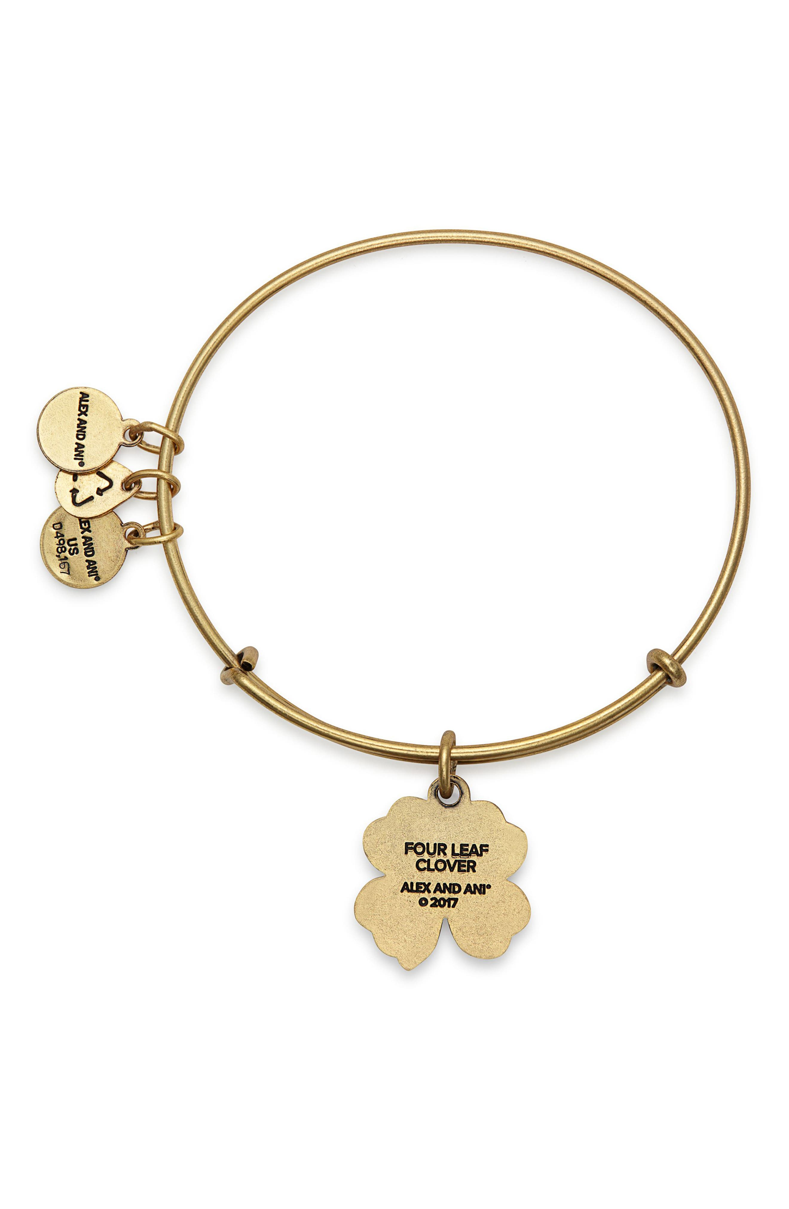 Alternate Image 2  - Alex and Ani Four-Leaf Clover Adjustable Wire Bangle