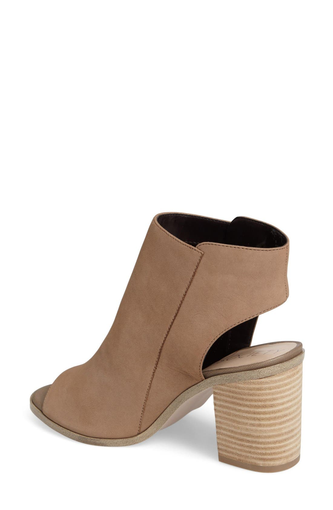 Alternate Image 2  - Sole Society Arizona Block Heel Peep-Toe Bootie (Women)