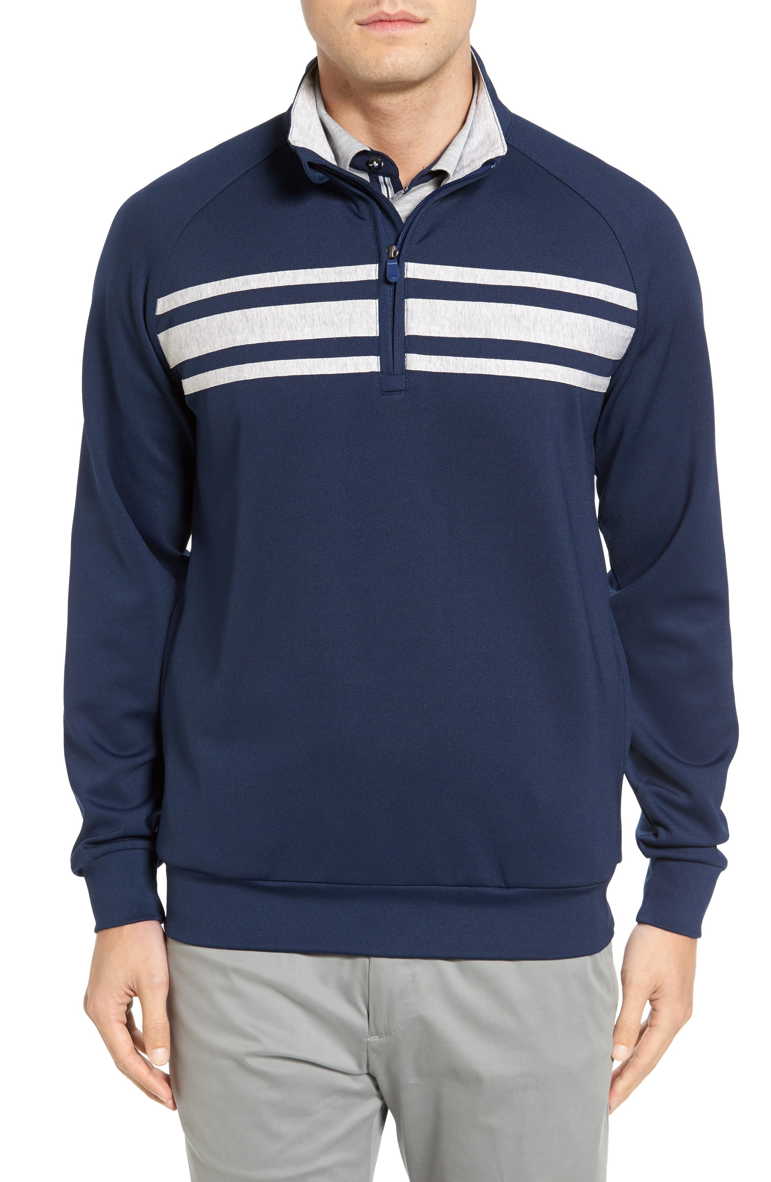 Bobby Jones R18 Trio Tech Quarter Zip Golf Pullover