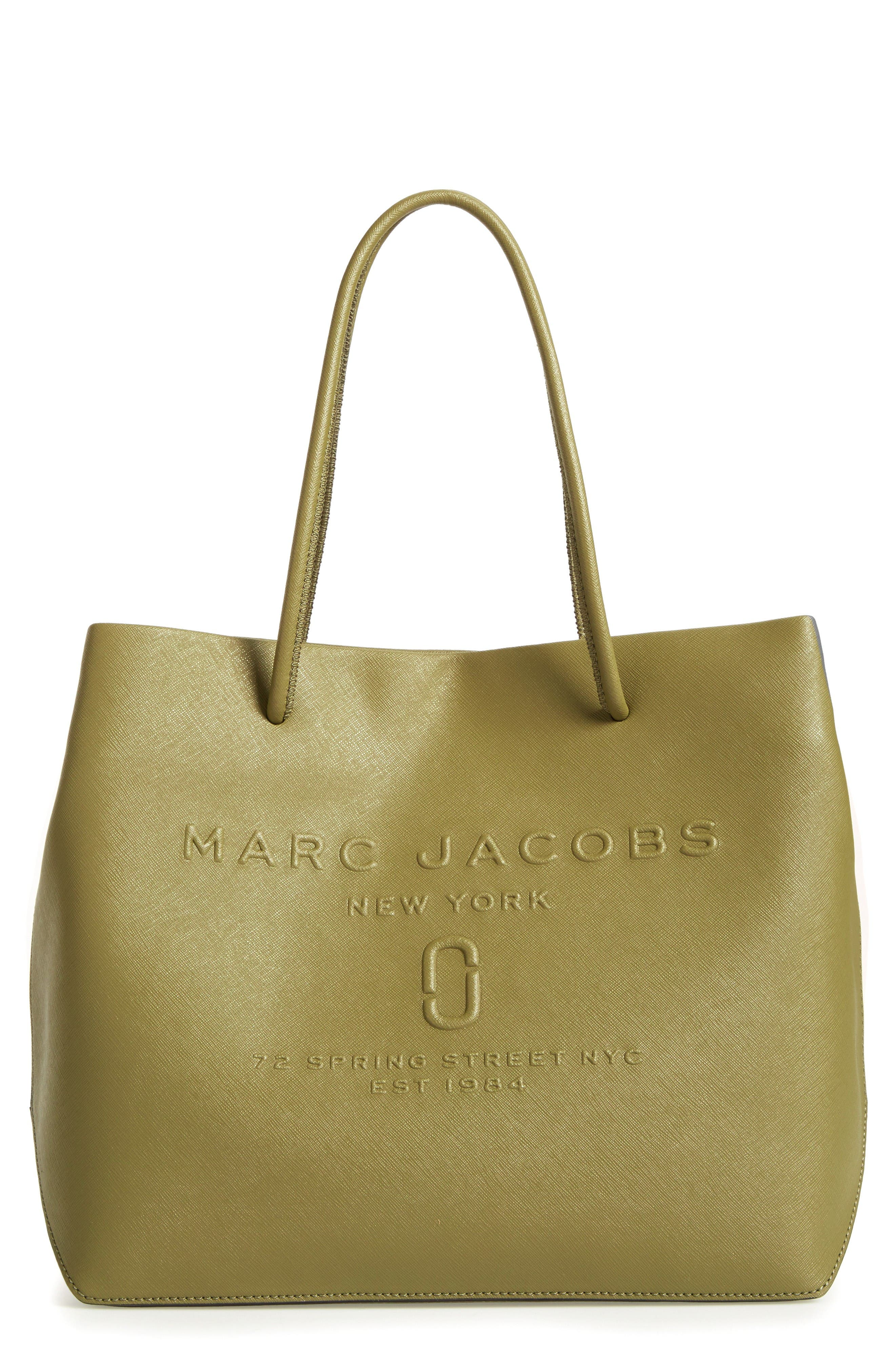 Main Image - MARC JACOBS Logo Leather Shopper