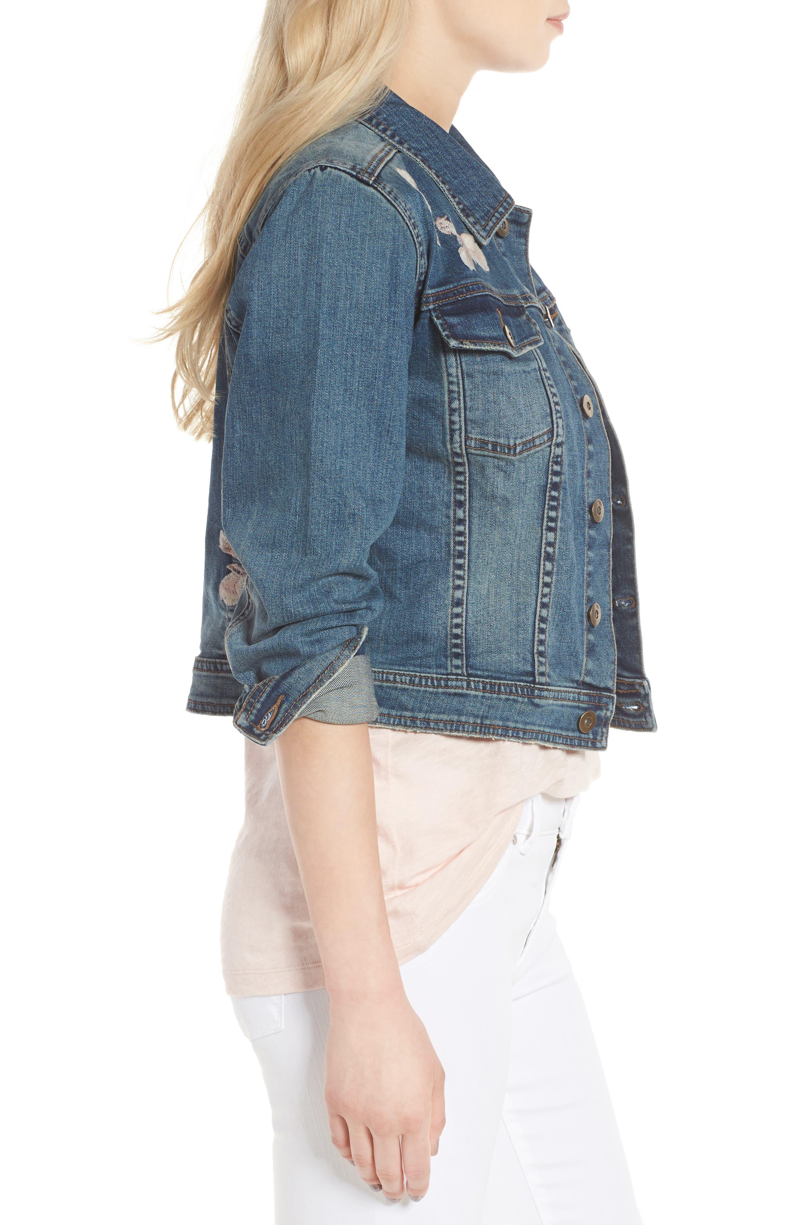 Alternate Image 3  - BILLY T Embroidered Denim Jacket