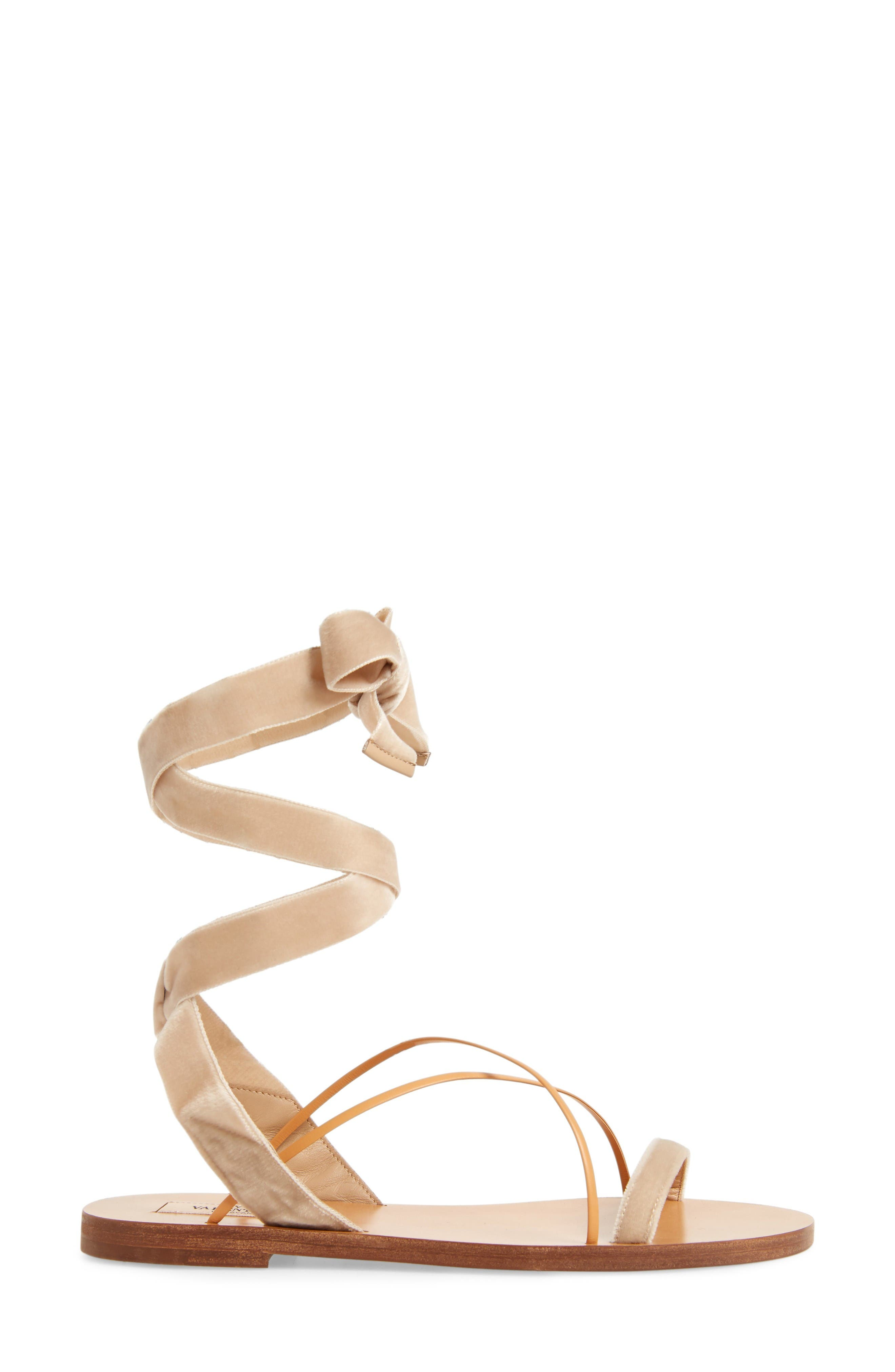 Alternate Image 4  - Valentino Lace-up Sandal (Women)