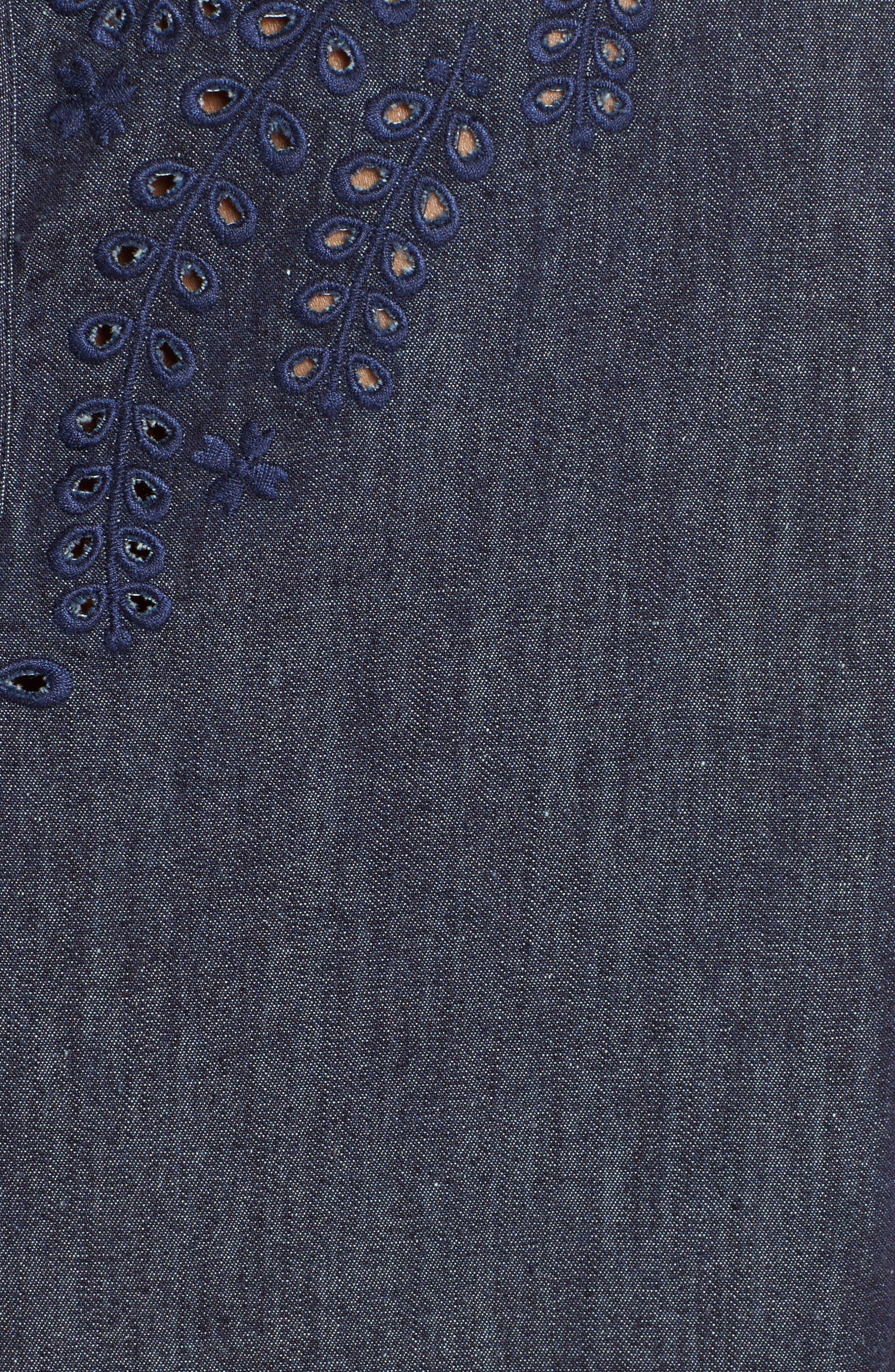 Alternate Image 5  - rag & bone/JEAN Sahara Eyelet Cotton Blend Tank
