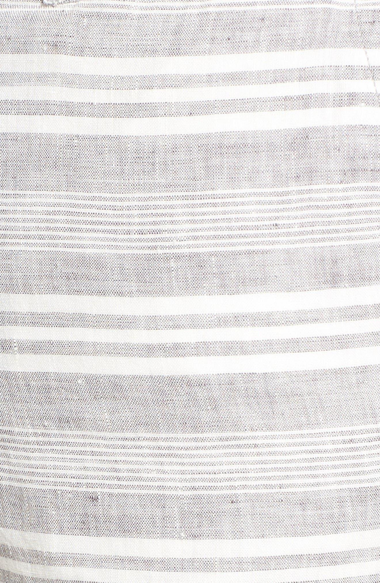Alternate Image 5  - 1901 Stripe Linen Shorts