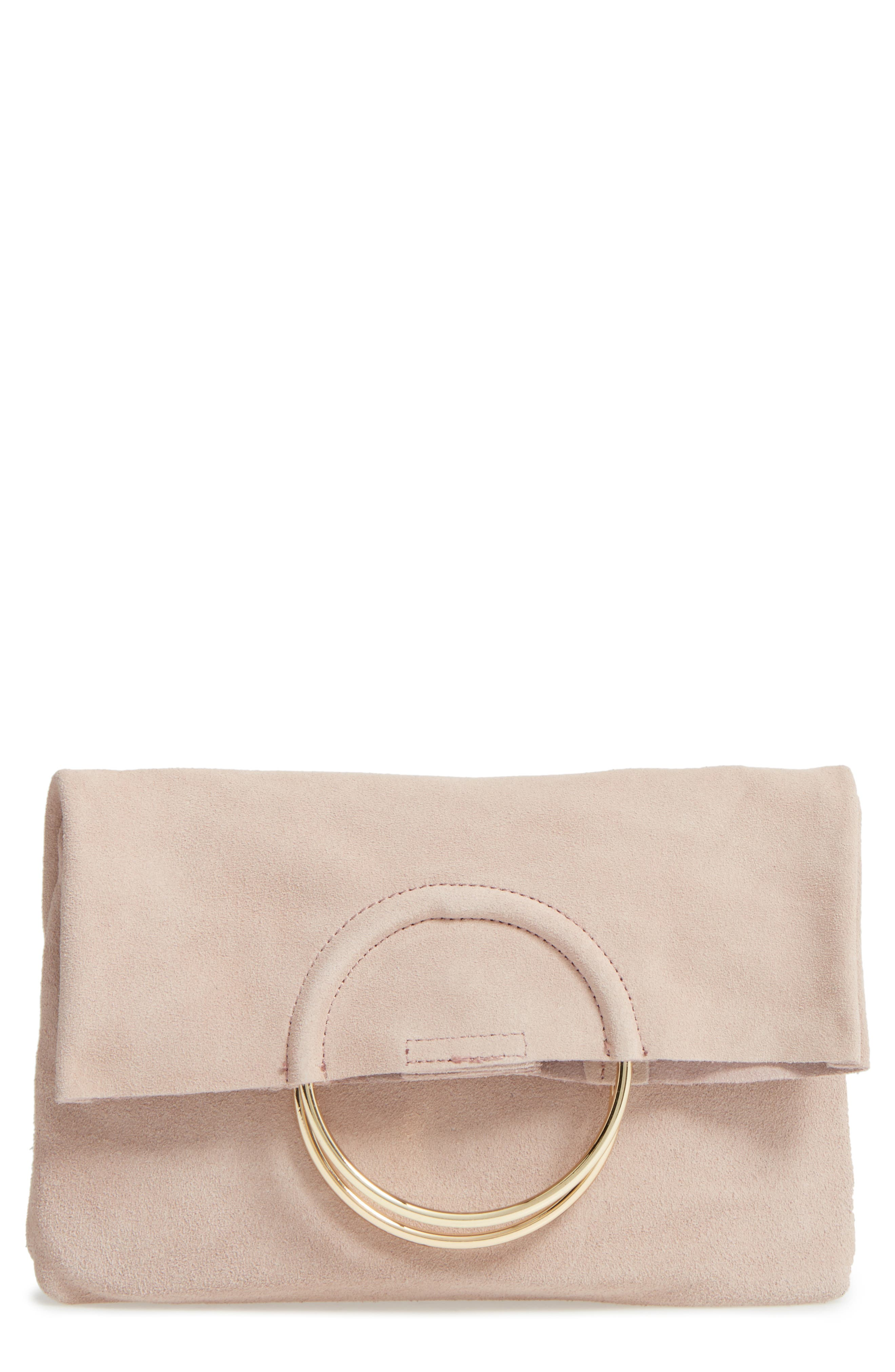 Alternate Image 1 Selected - Sole Society Maron Foldover Suede Clutch