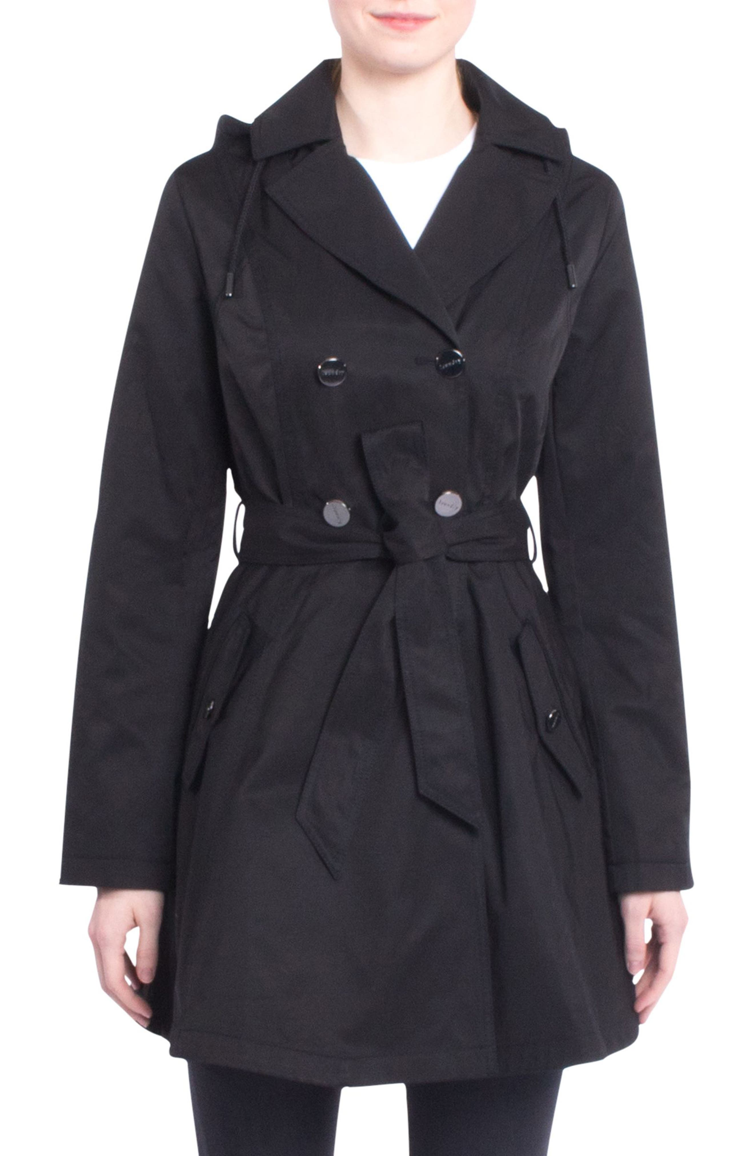Alternate Image 1 Selected - Laundry by Shelli Segal Fit & Flare Trench Coat