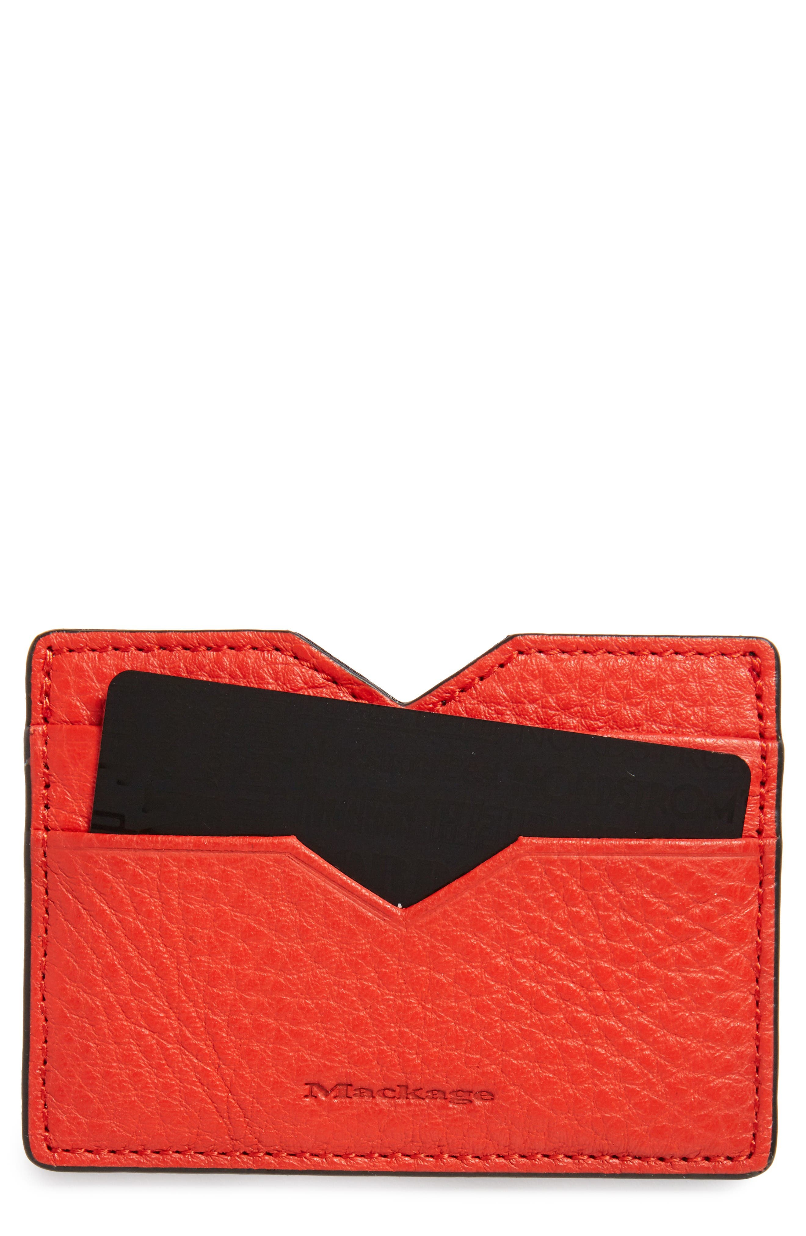 Mackage Wes Leather Card Case