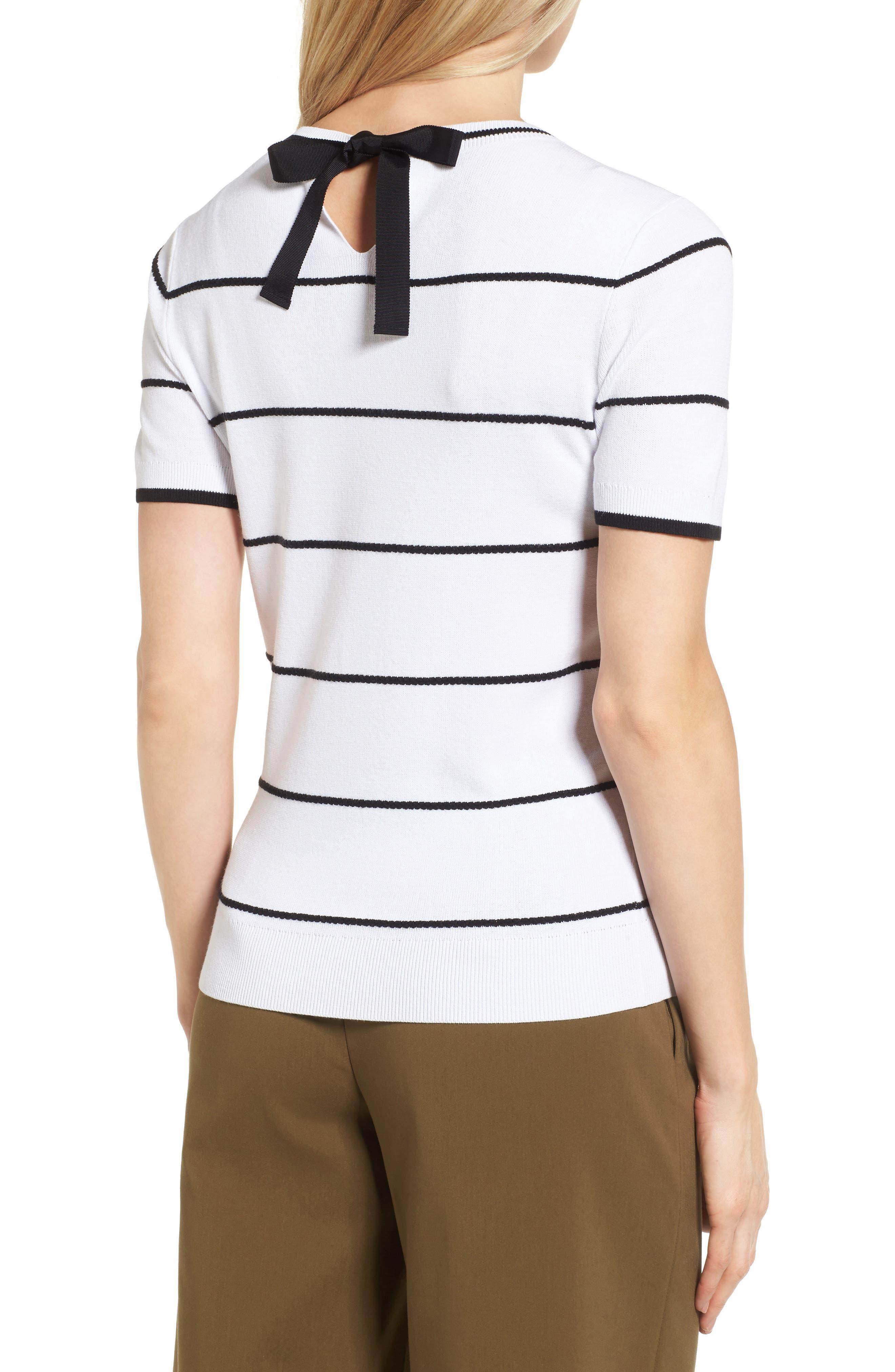 Alternate Image 4  - Halogen® Bow Back Pullover (Regular and Petite)