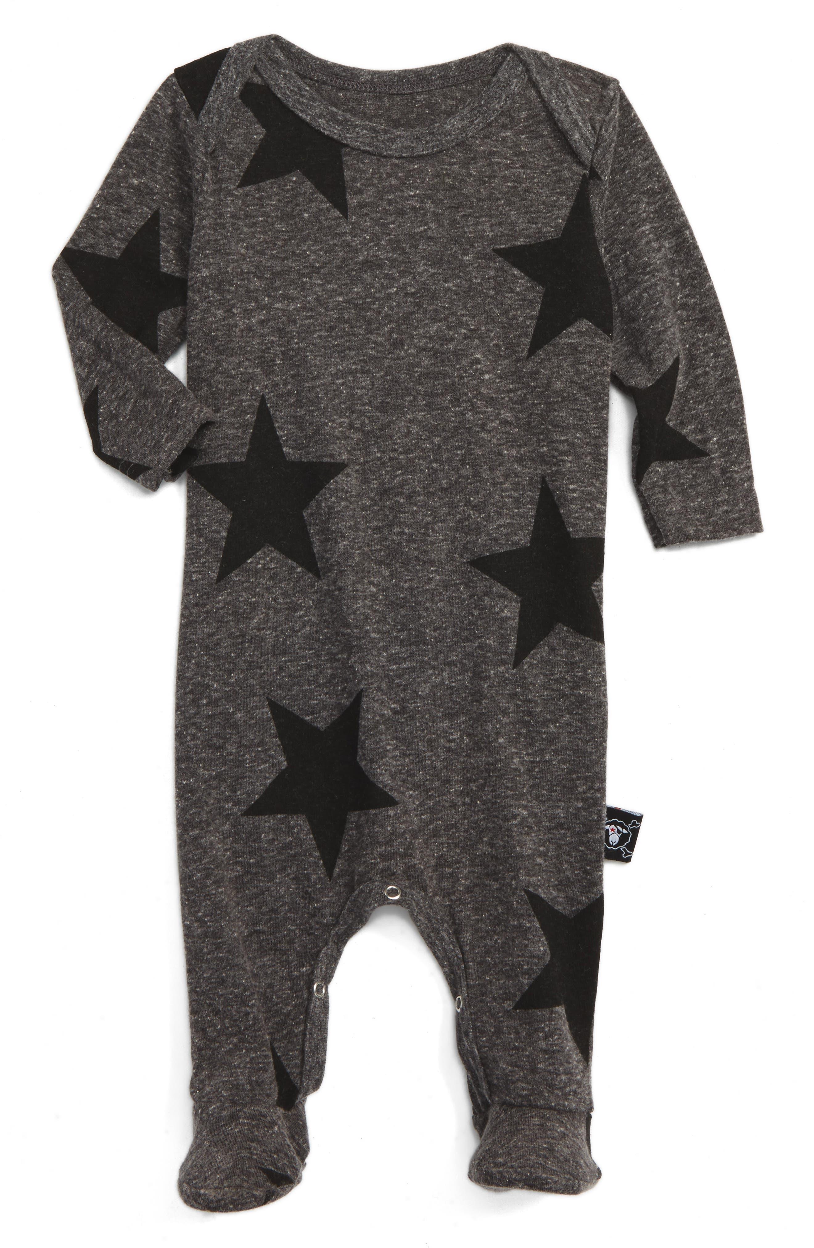 NUNUNU Star Print Footie (Baby)