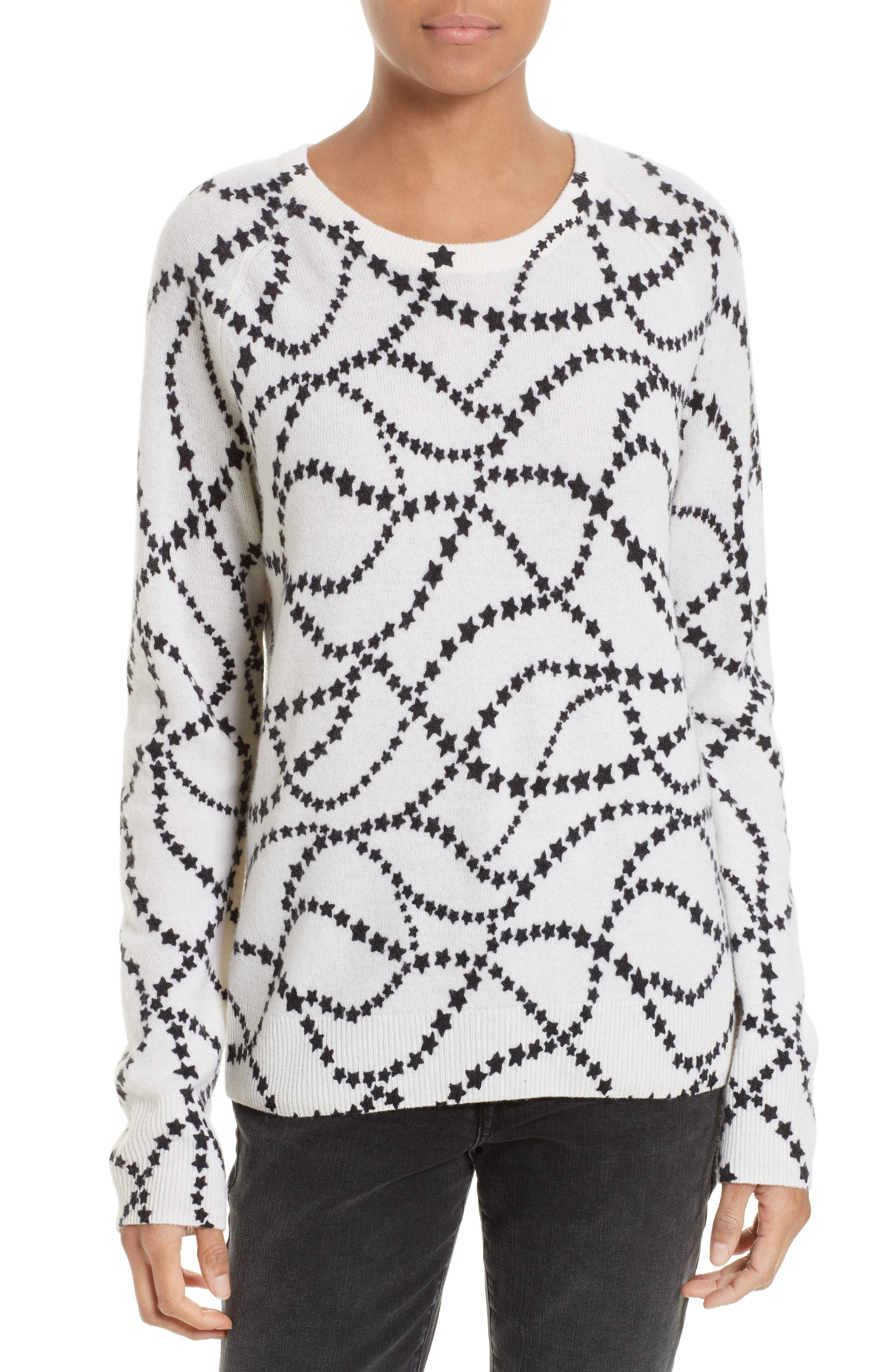 Equipment Sloane Star Print Cashmere Sweater