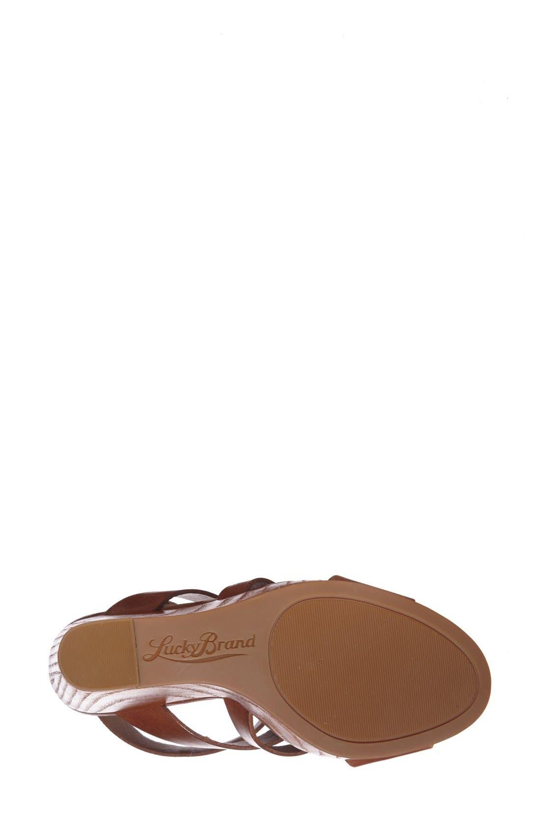 Alternate Image 4  - Lucky Brand 'Roselyn' Leather Caged Platform Sandal (Women)