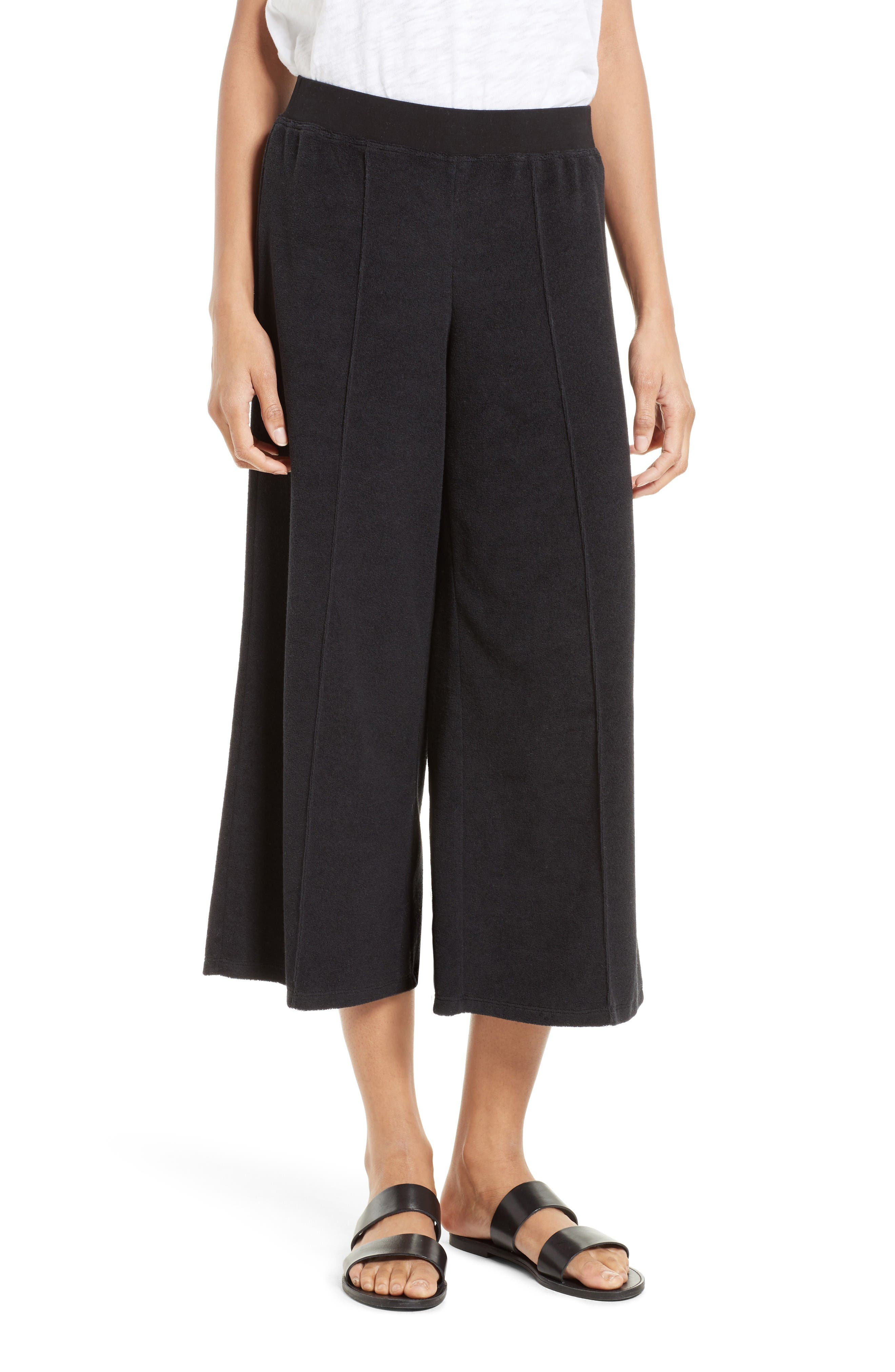 ATM Anthony Thomas Melillo Terry Crop Wide Leg Pants