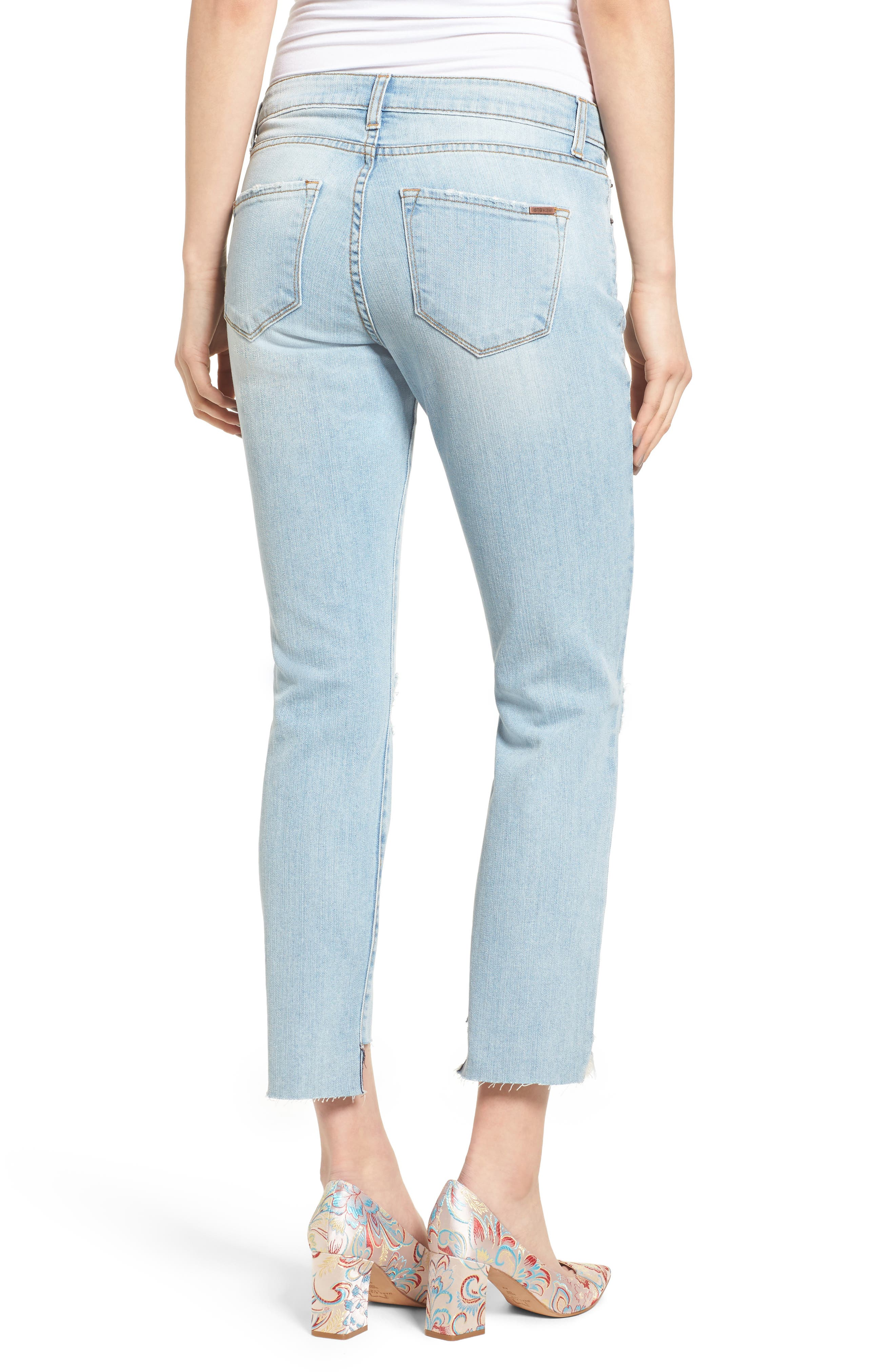 Alternate Image 2  - STS Blue Taylor Tomboy Ripped Boyfriend Jeans with Step Hem (Lakeshore)