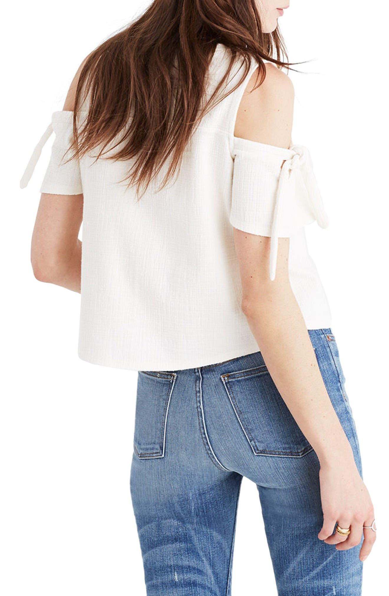 Alternate Image 2  - Madewell Skylark Cold Shoulder Top