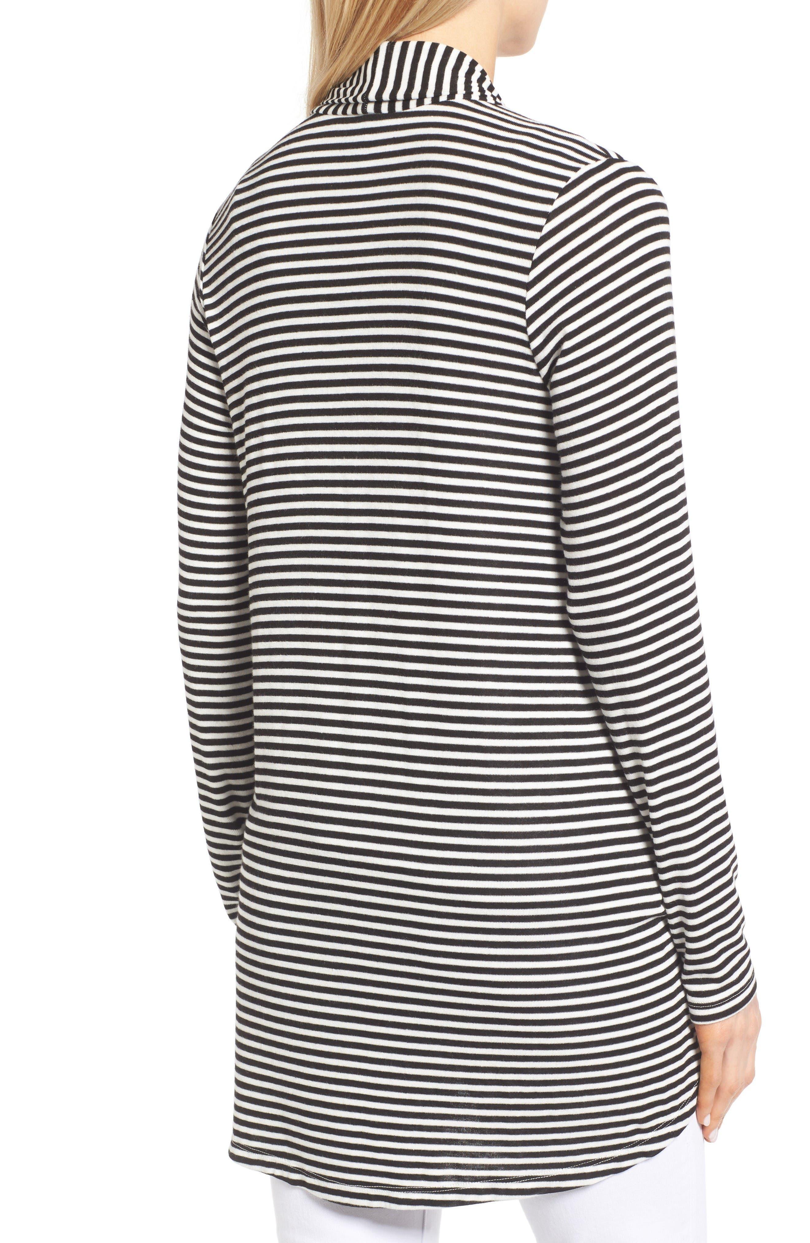 Alternate Image 2  - Bobeau High/Low Jersey Cardigan (Regular & Petite)