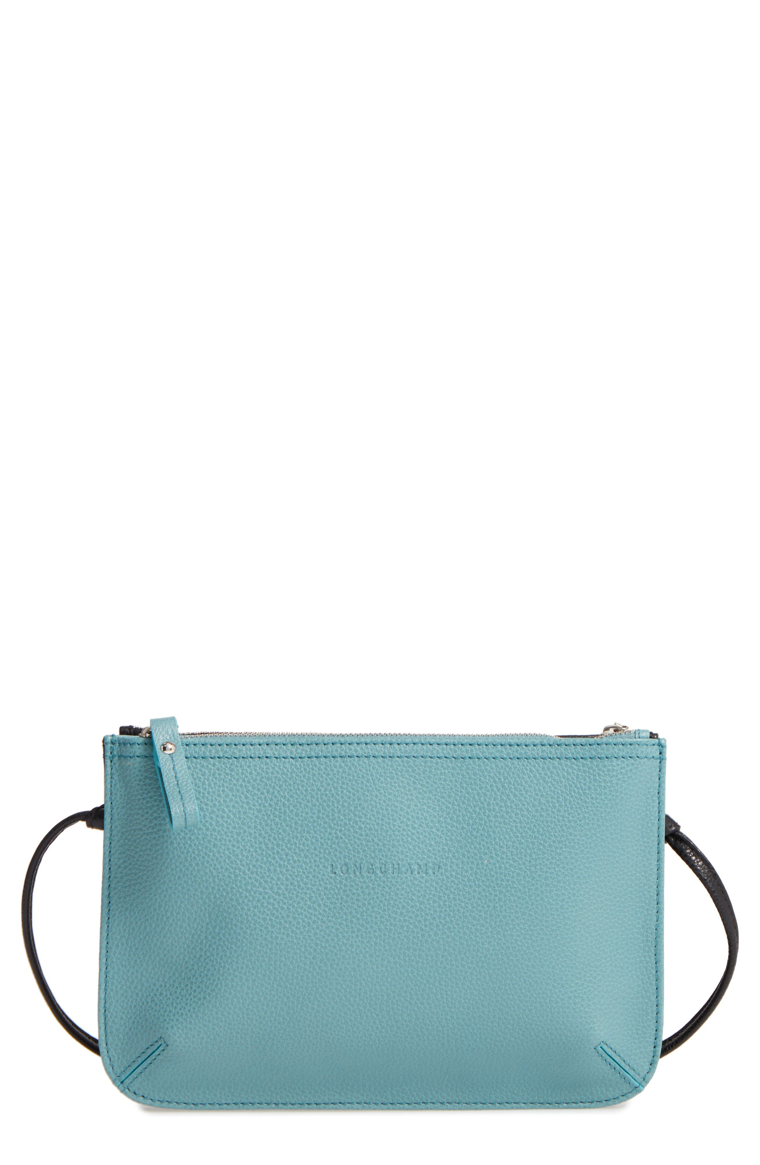 Alternate Image 1 Selected - Longchamp Le Foulonné Leather Crossbody Bag