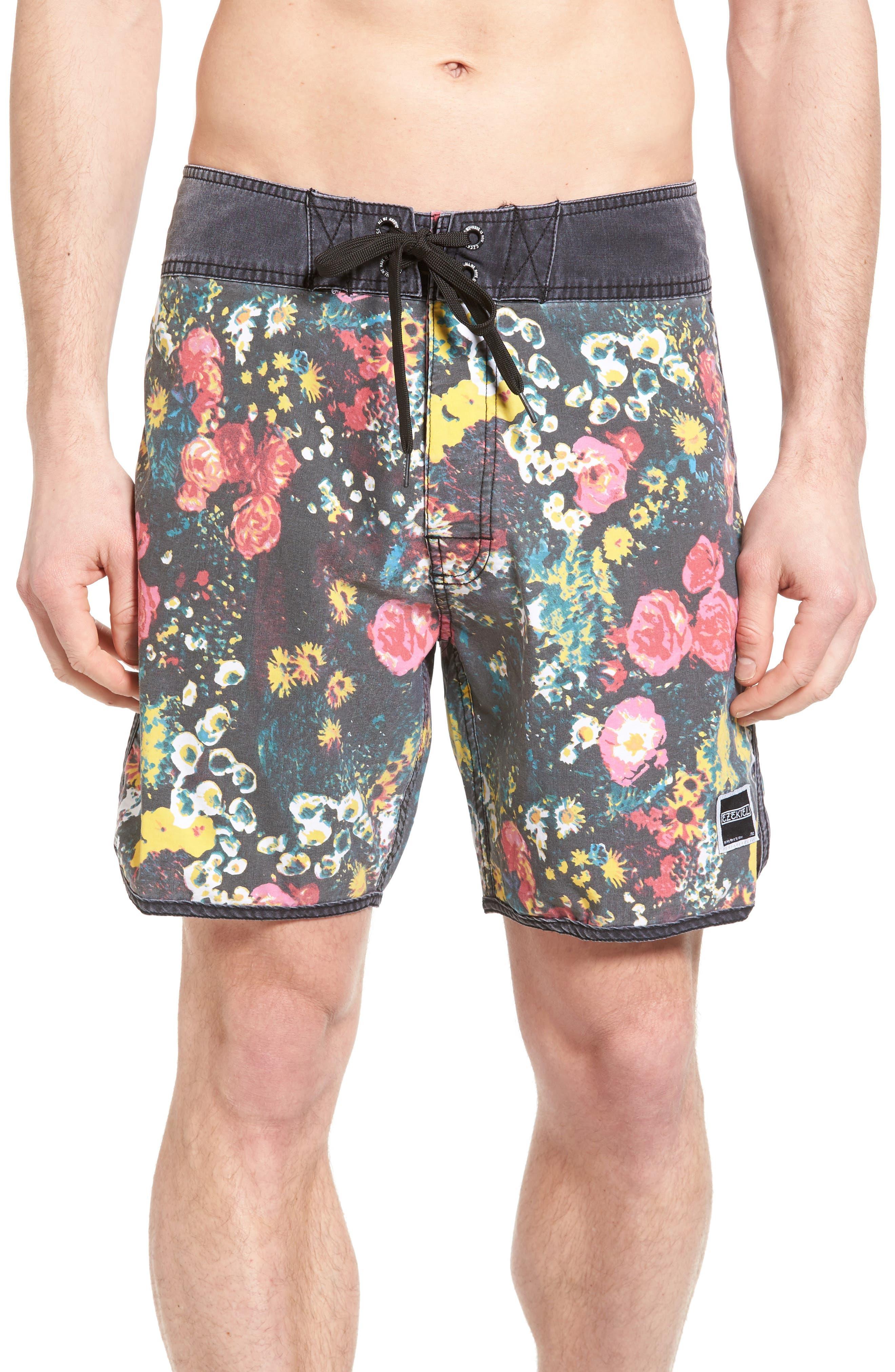 Ezekiel Floral Print Board Shorts