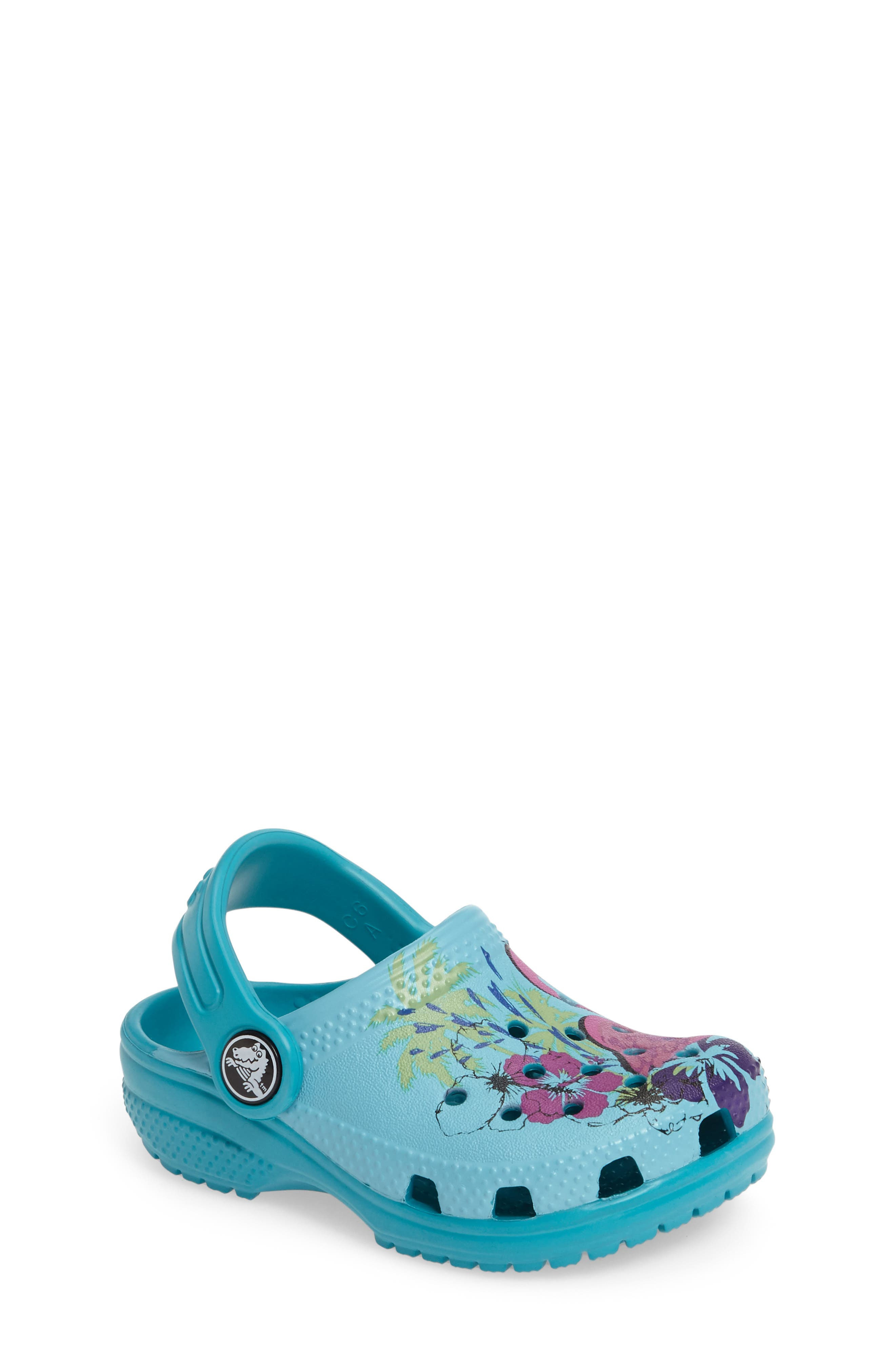 CROCS™ Classic Graphic Clog (Baby, Walker, Toddler & Little Kid)