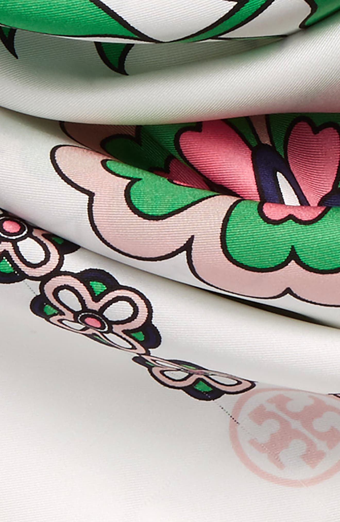 Alternate Image 3  - Tory Burch Garden Party Square Silk Scarf