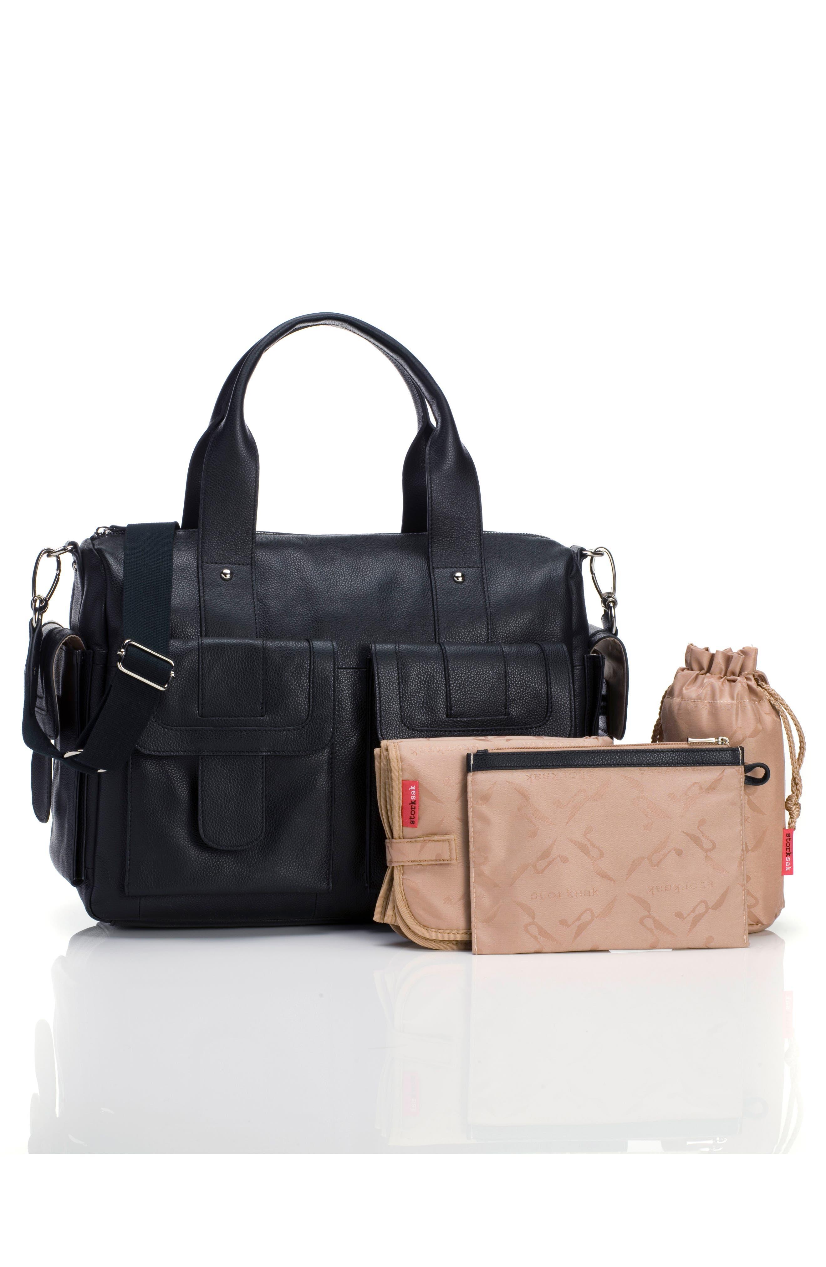 Alternate Image 2  - Storsak 'Sofia' Leather Diaper Bag