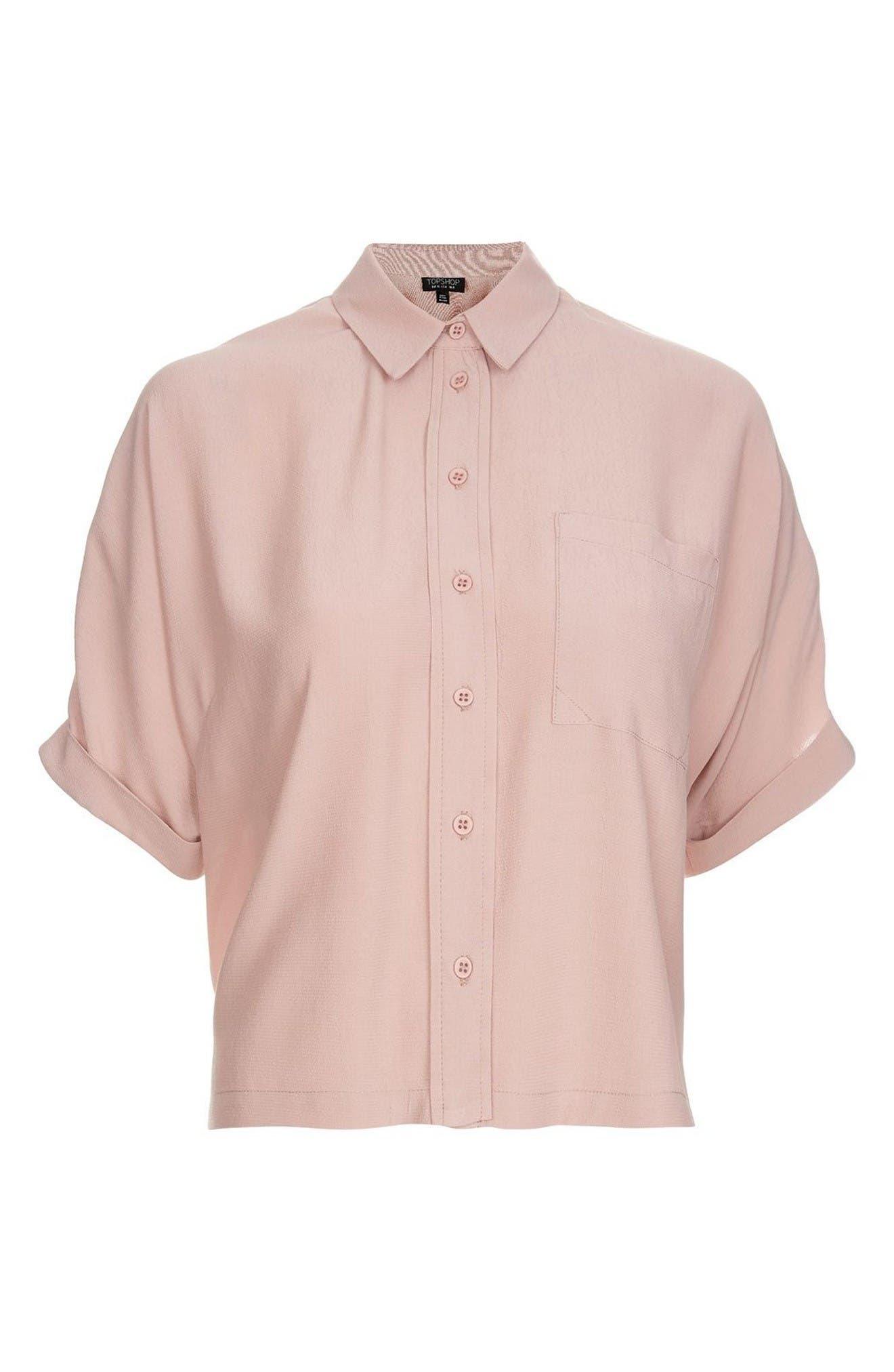Alternate Image 4  - Topshop Kady Roll Sleeve Shirt