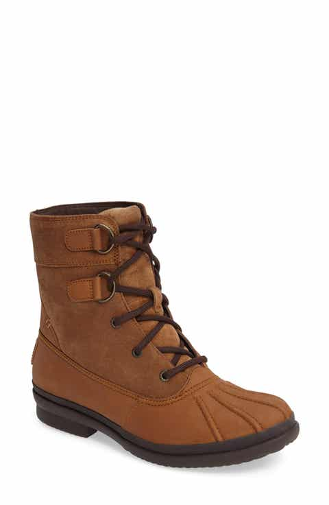 a2d0aefa3f7 UGG  Azaria Waterproof Boot (Women). CHESTNUT LEATHER  BLACK LEATHER