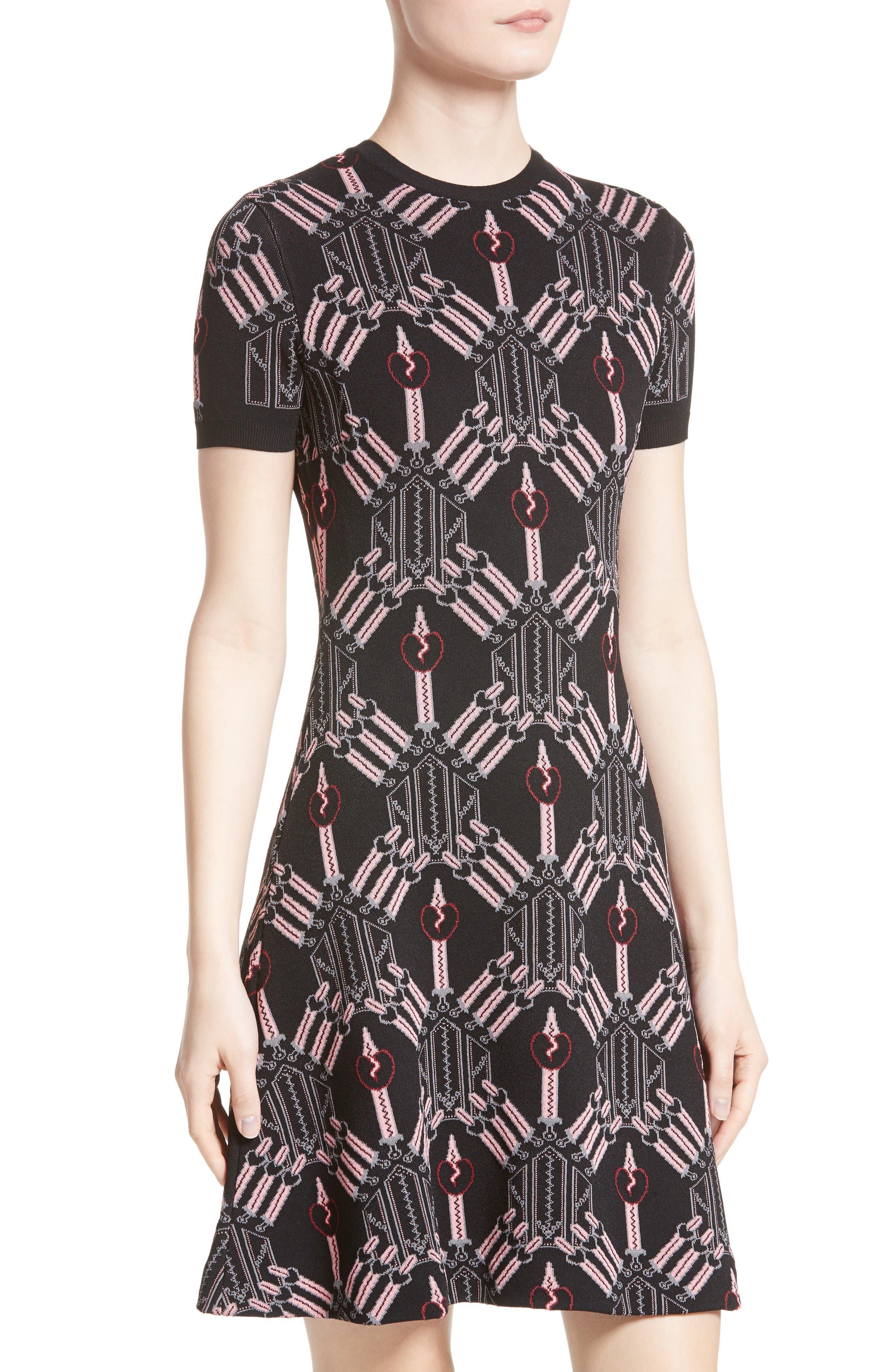 Alternate Image 6  - Valentino Love Blade Fit & Flare Dress