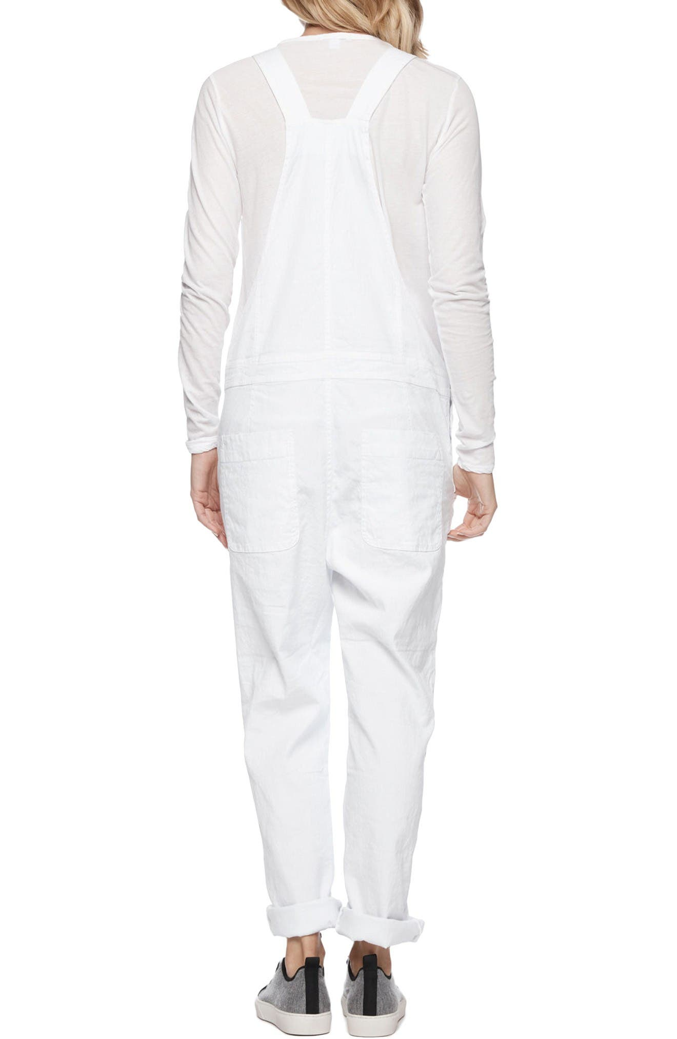 Alternate Image 2  - James Perse Cotton Linen Overalls