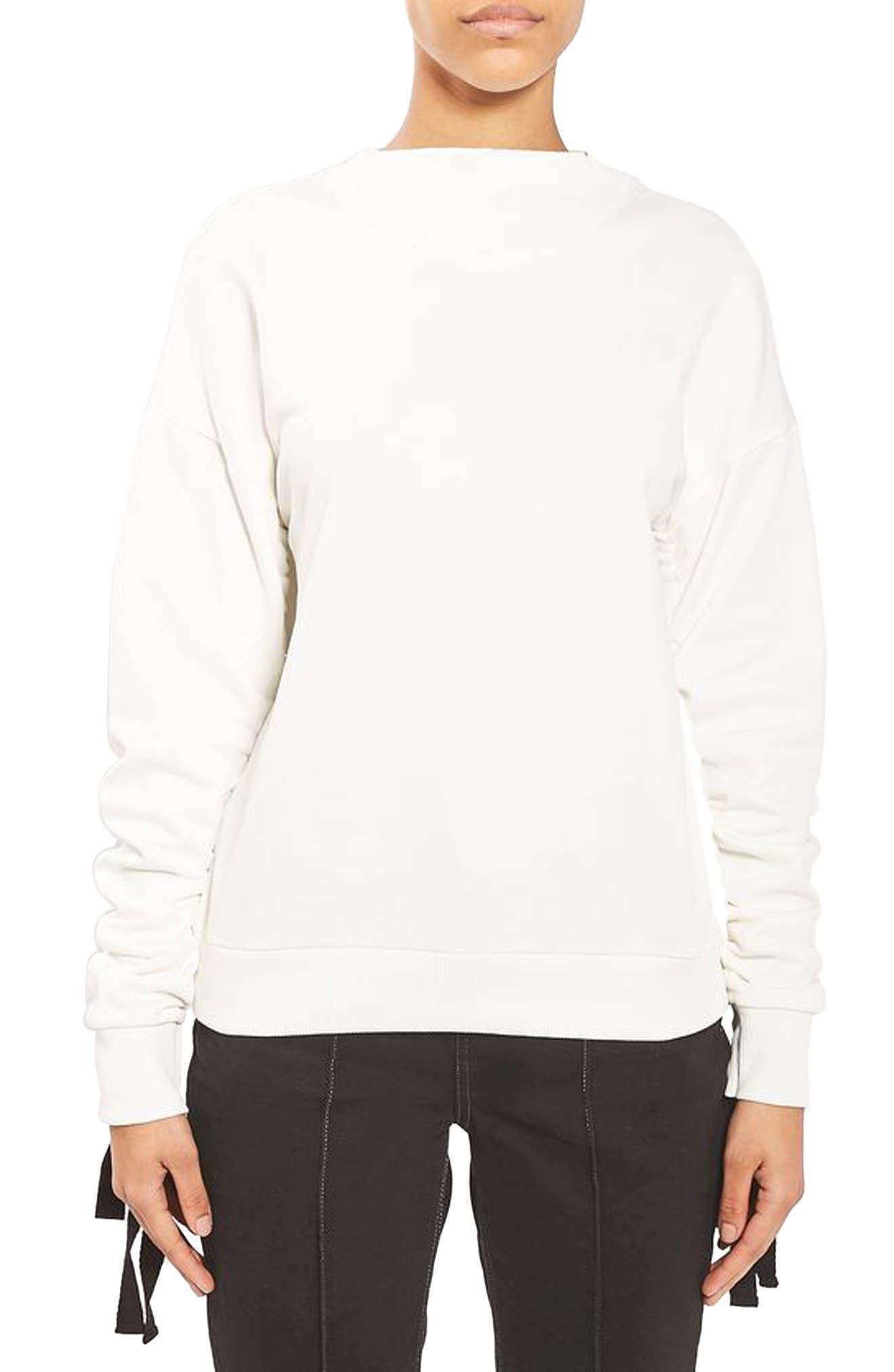 Topshop Boutique Ruched Sweatshirt