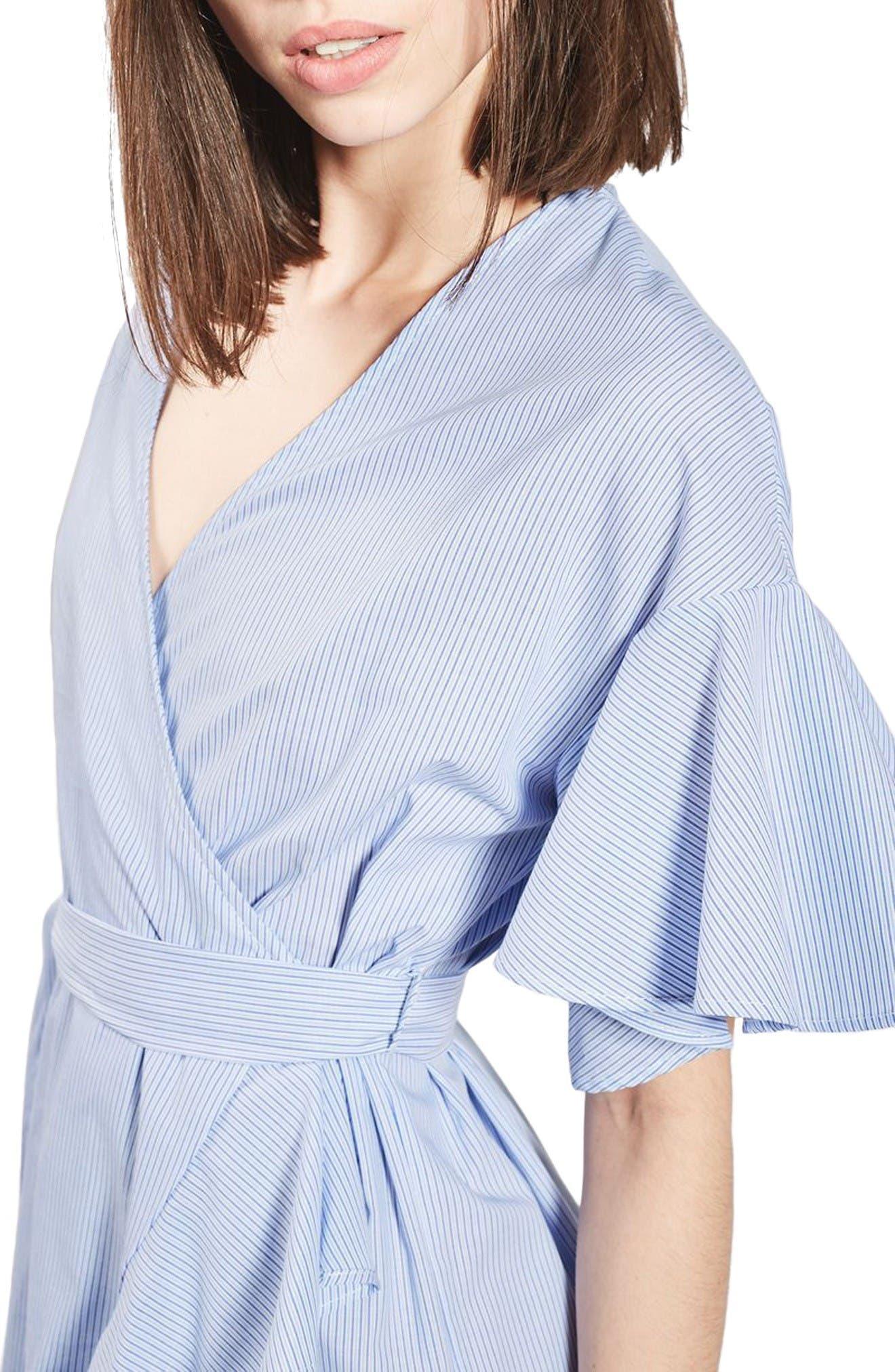 Alternate Image 5  - Topshop Stripe Wrap Dress