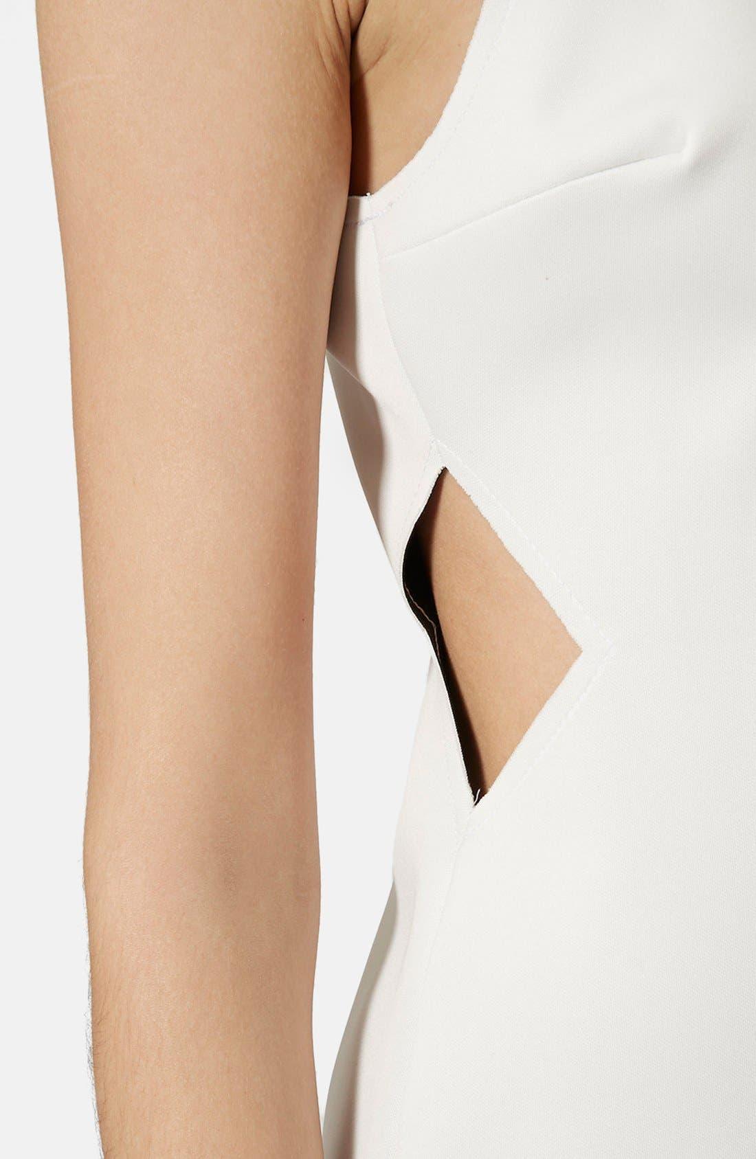 Alternate Image 4  - Topshop Raw Edge Cutout Body-Con Dress