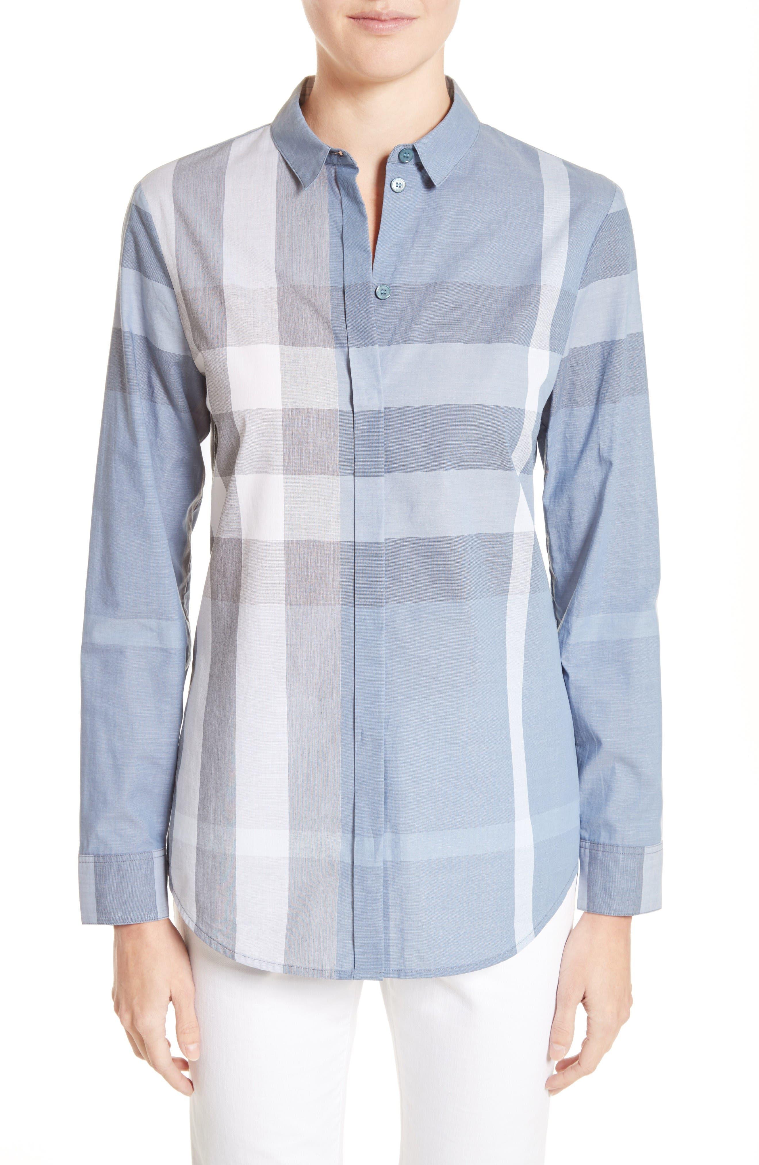 Burberry Check Print Cotton Shirt