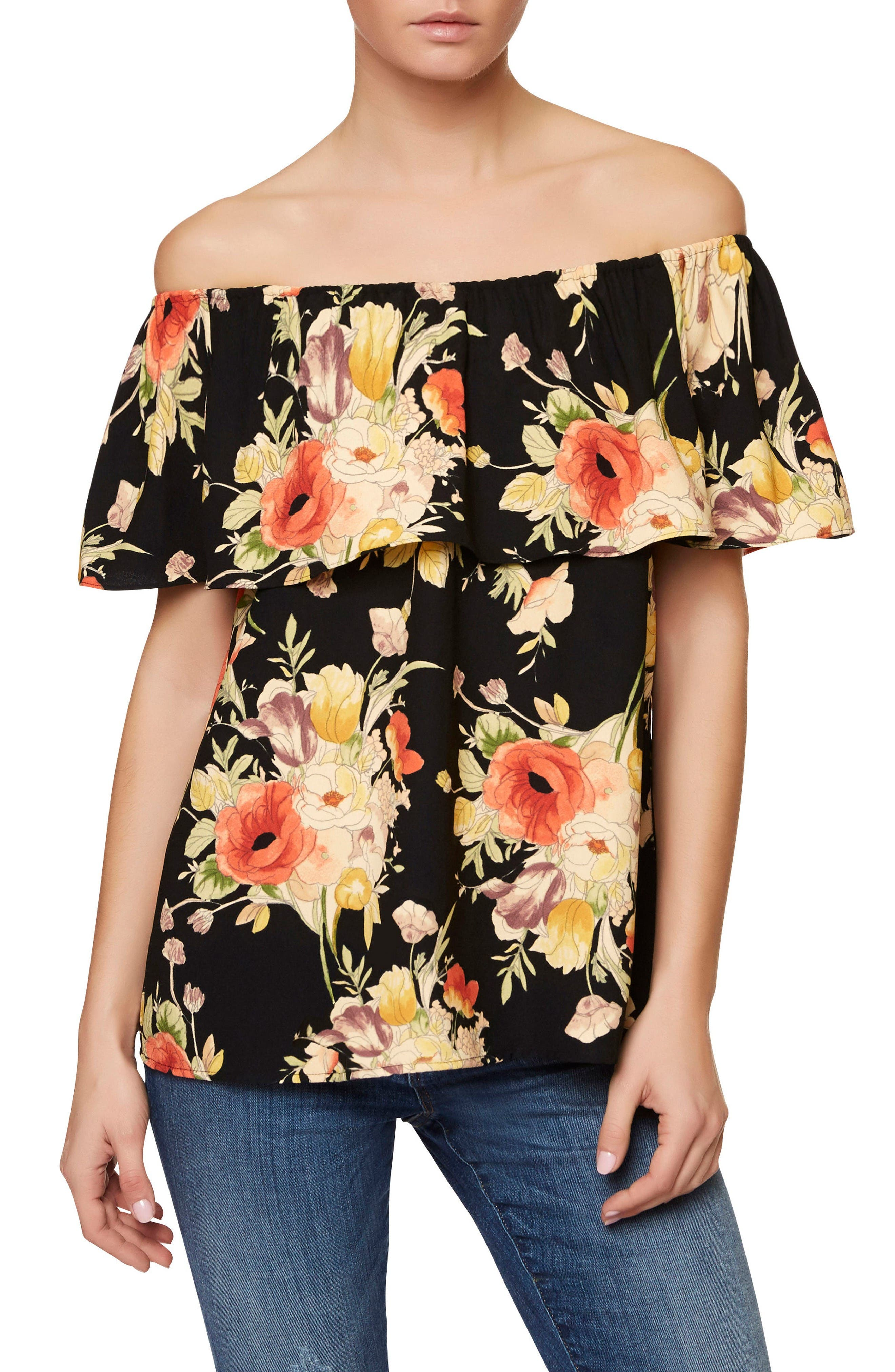 Alternate Image 1 Selected - Sanctuary Misha Off the Shoulder Floral Top