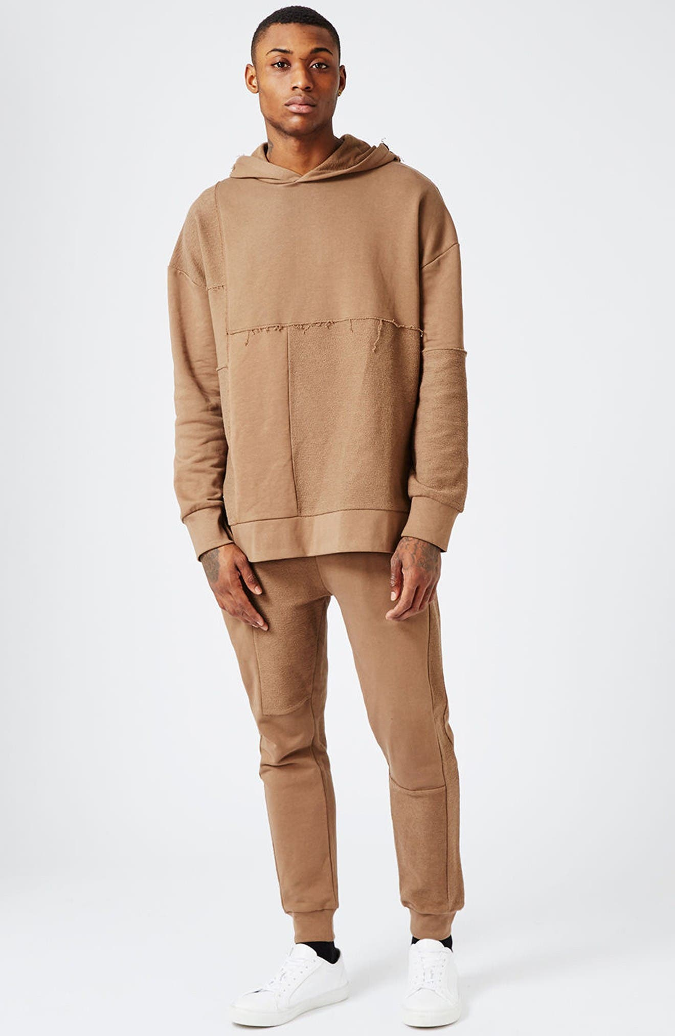 Alternate Image 2  - Topman AAA Collection Paneled Slim Fit Jogger Pants