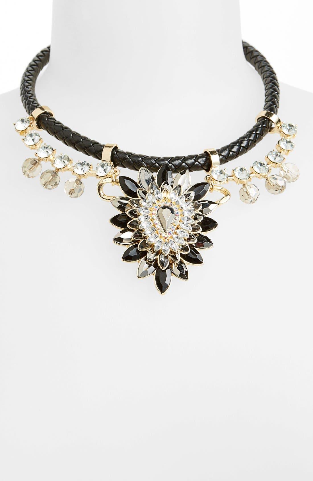 Main Image - Topshop Plaited Rhinestone Collar