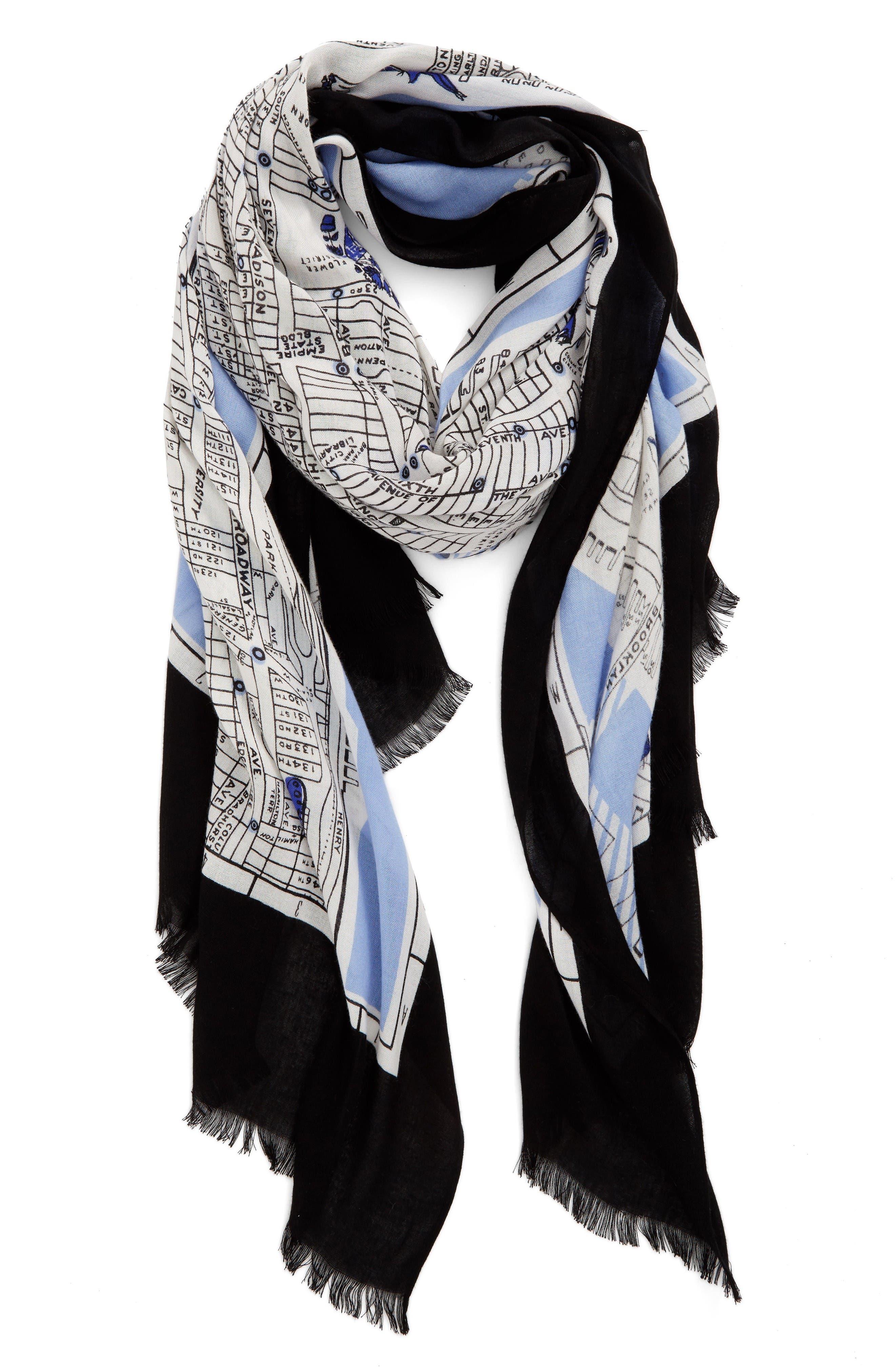 Main Image - kate spade new york new york map print scarf